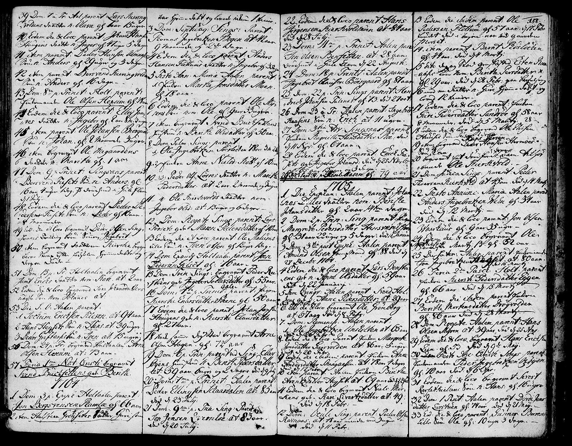 SAT, Ministerialprotokoller, klokkerbøker og fødselsregistre - Sør-Trøndelag, 685/L0952: Ministerialbok nr. 685A01, 1745-1804, s. 158