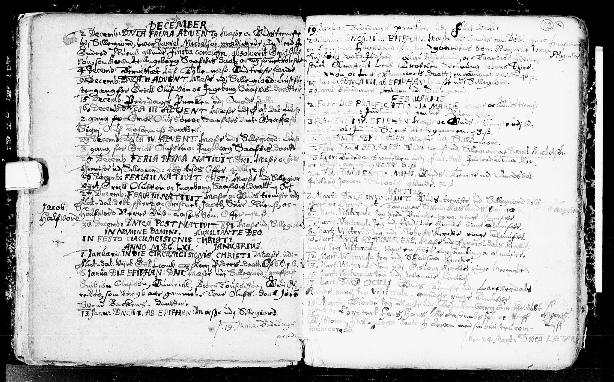 SAKO, Seljord kirkebøker, F/Fa/L0001: Ministerialbok nr. I 1, 1654-1686, s. 32