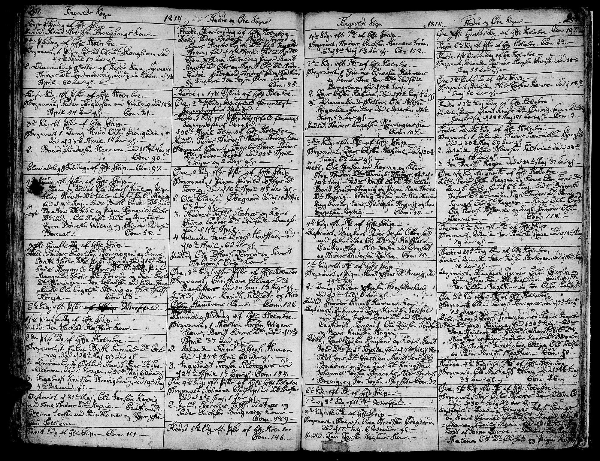 SAT, Ministerialprotokoller, klokkerbøker og fødselsregistre - Møre og Romsdal, 586/L0981: Ministerialbok nr. 586A07, 1794-1819, s. 291-292