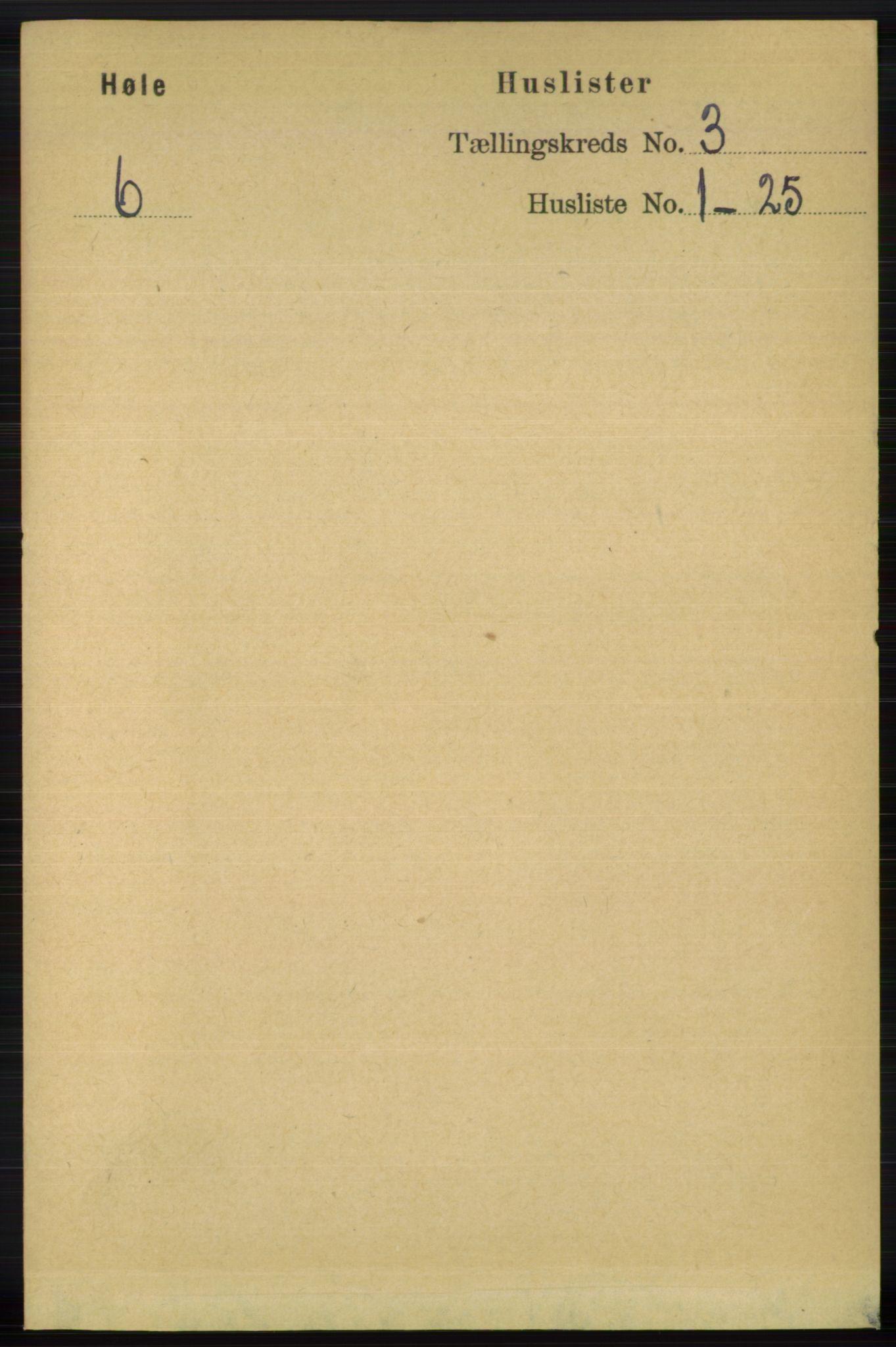 RA, Folketelling 1891 for 1128 Høle herred, 1891, s. 621
