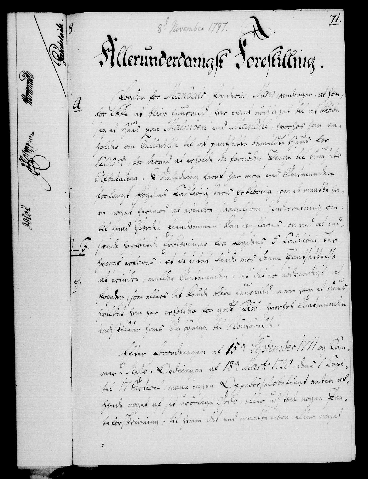 RA, Rentekammeret, Kammerkanselliet, G/Gf/Gfa/L0079: Norsk relasjons- og resolusjonsprotokoll (merket RK 52.79), 1797, s. 442