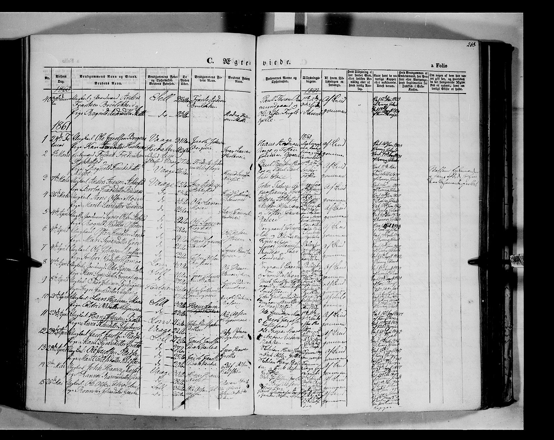 SAH, Vågå prestekontor, Ministerialbok nr. 6 /1, 1856-1872, s. 268