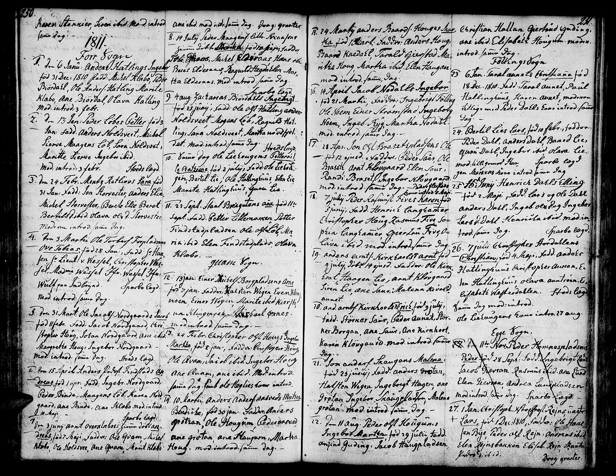 SAT, Ministerialprotokoller, klokkerbøker og fødselsregistre - Nord-Trøndelag, 746/L0440: Ministerialbok nr. 746A02, 1760-1815, s. 250-251