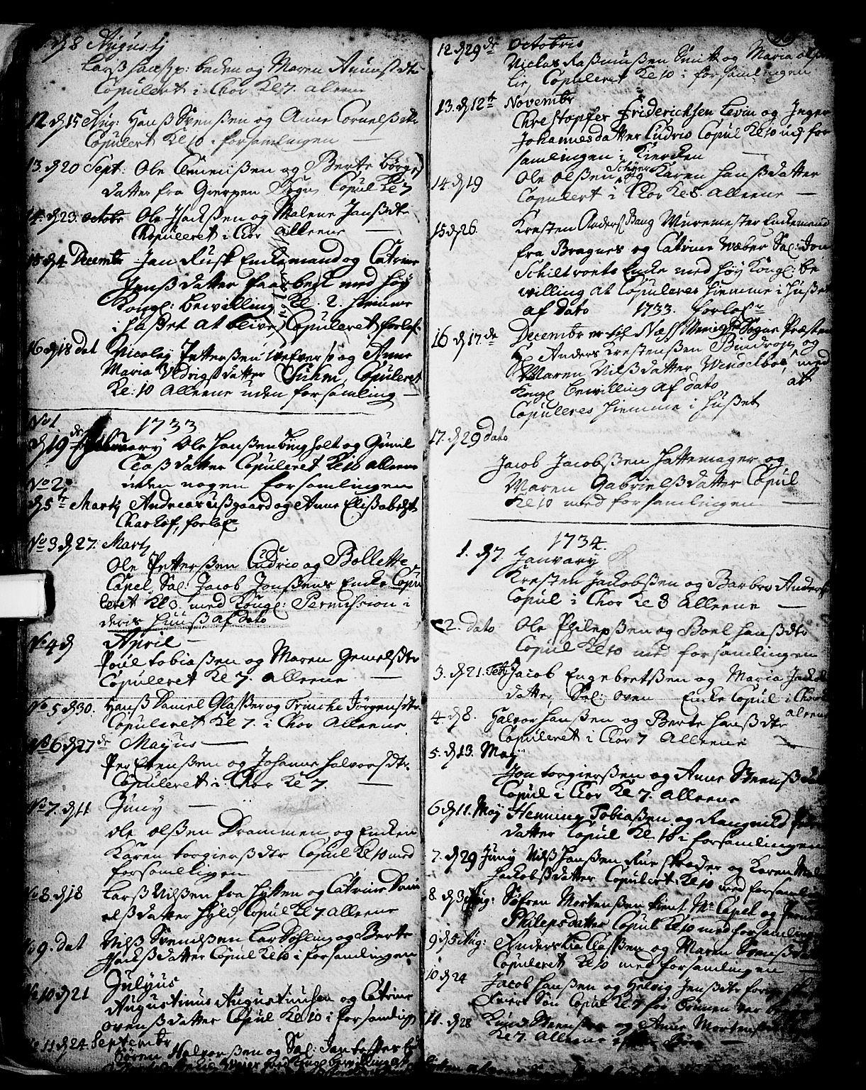 SAKO, Skien kirkebøker, F/Fa/L0002: Ministerialbok nr. 2, 1716-1757, s. 36