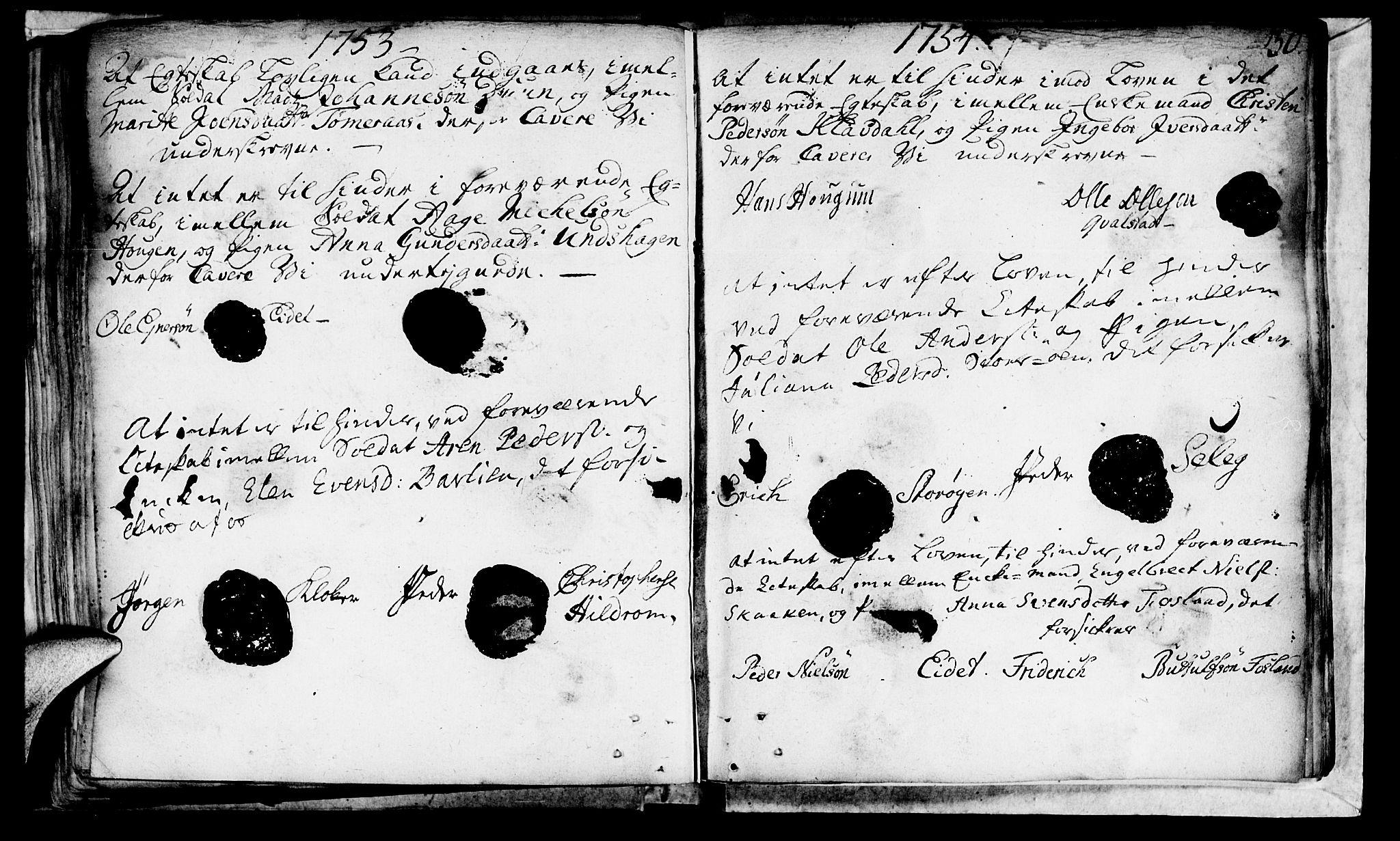 SAT, Ministerialprotokoller, klokkerbøker og fødselsregistre - Nord-Trøndelag, 764/L0541: Ministerialbok nr. 764A01, 1745-1758, s. 30