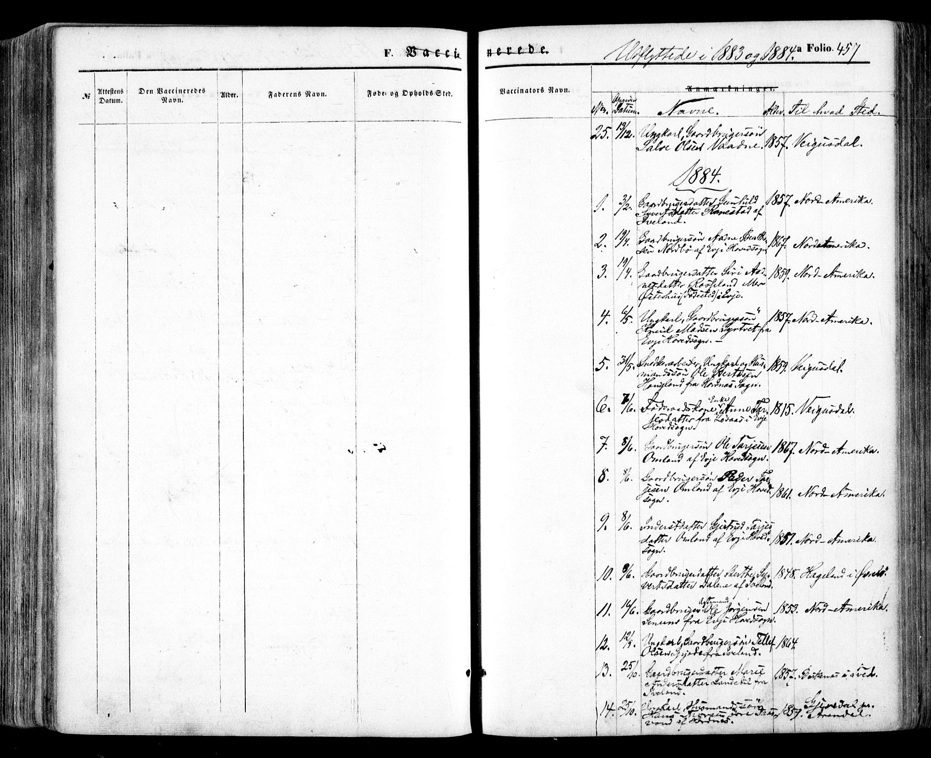 SAK, Evje sokneprestkontor, F/Fa/Faa/L0006: Ministerialbok nr. A 6, 1866-1884, s. 457