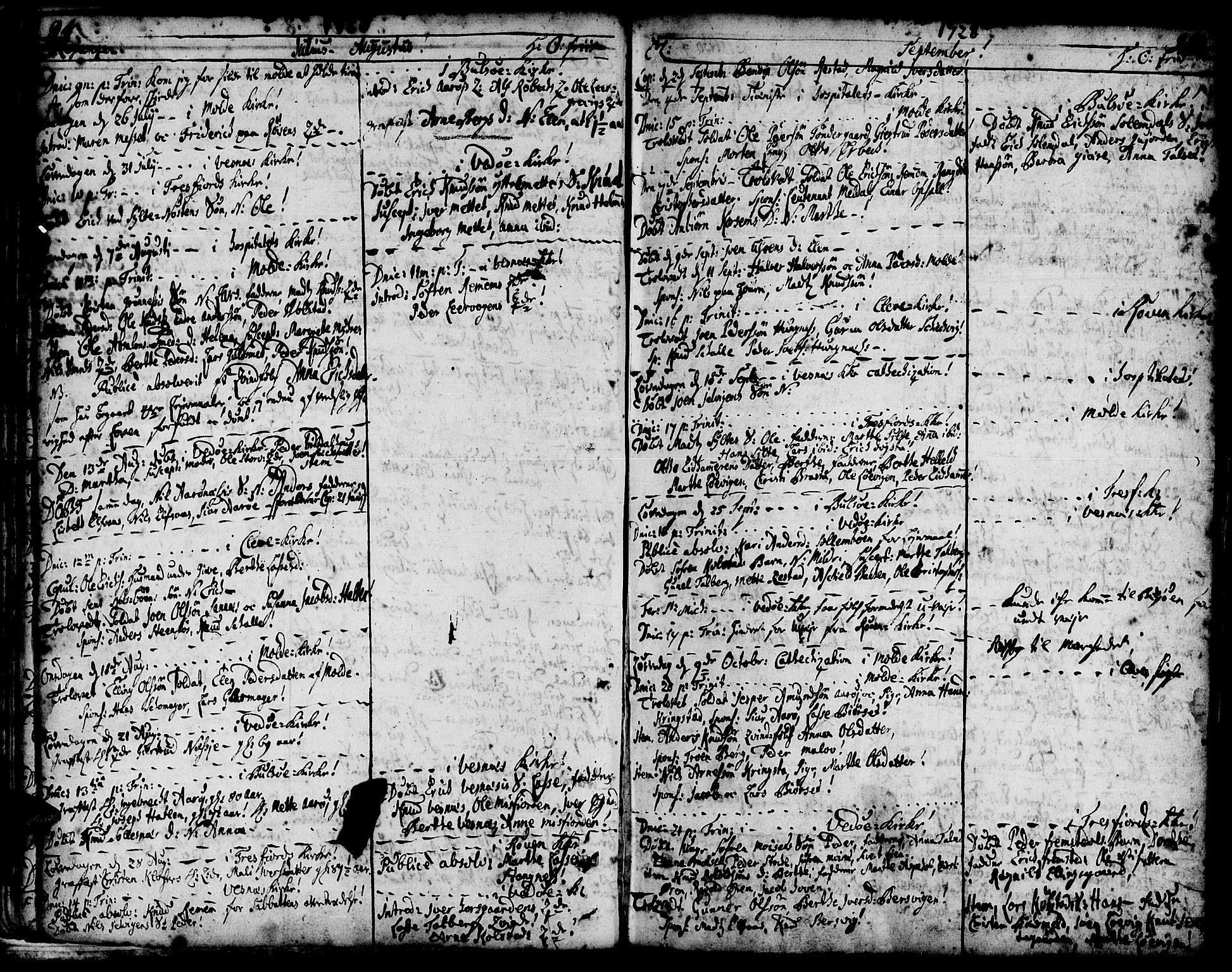 SAT, Ministerialprotokoller, klokkerbøker og fødselsregistre - Møre og Romsdal, 547/L0599: Ministerialbok nr. 547A01, 1721-1764, s. 96-97