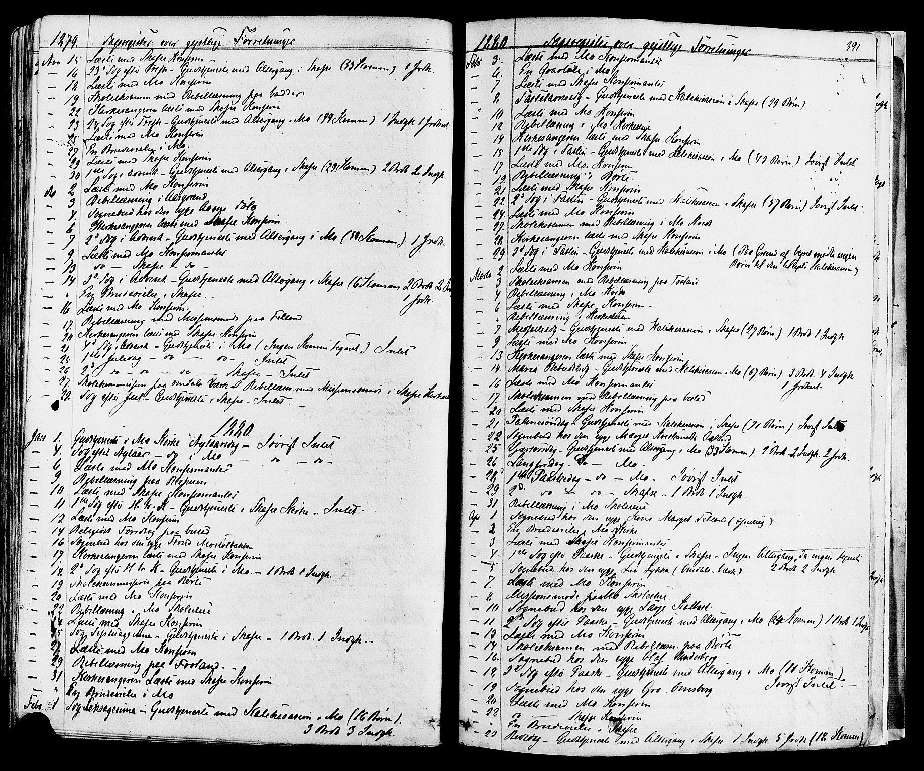 SAKO, Mo kirkebøker, F/Fa/L0006: Ministerialbok nr. I 6, 1865-1885, s. 391