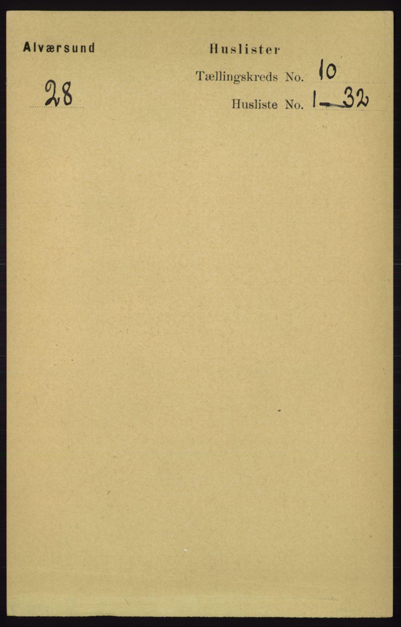 RA, Folketelling 1891 for 1257 Alversund herred, 1891, s. 3428