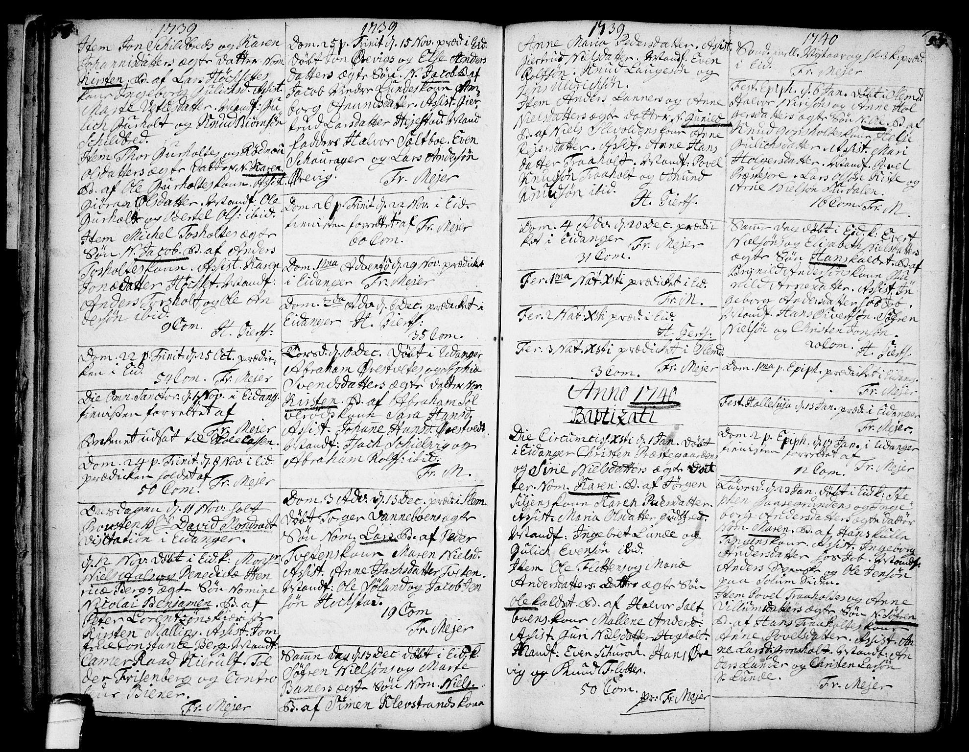 SAKO, Eidanger kirkebøker, F/Fa/L0004: Ministerialbok nr. 4, 1733-1759, s. 56-57