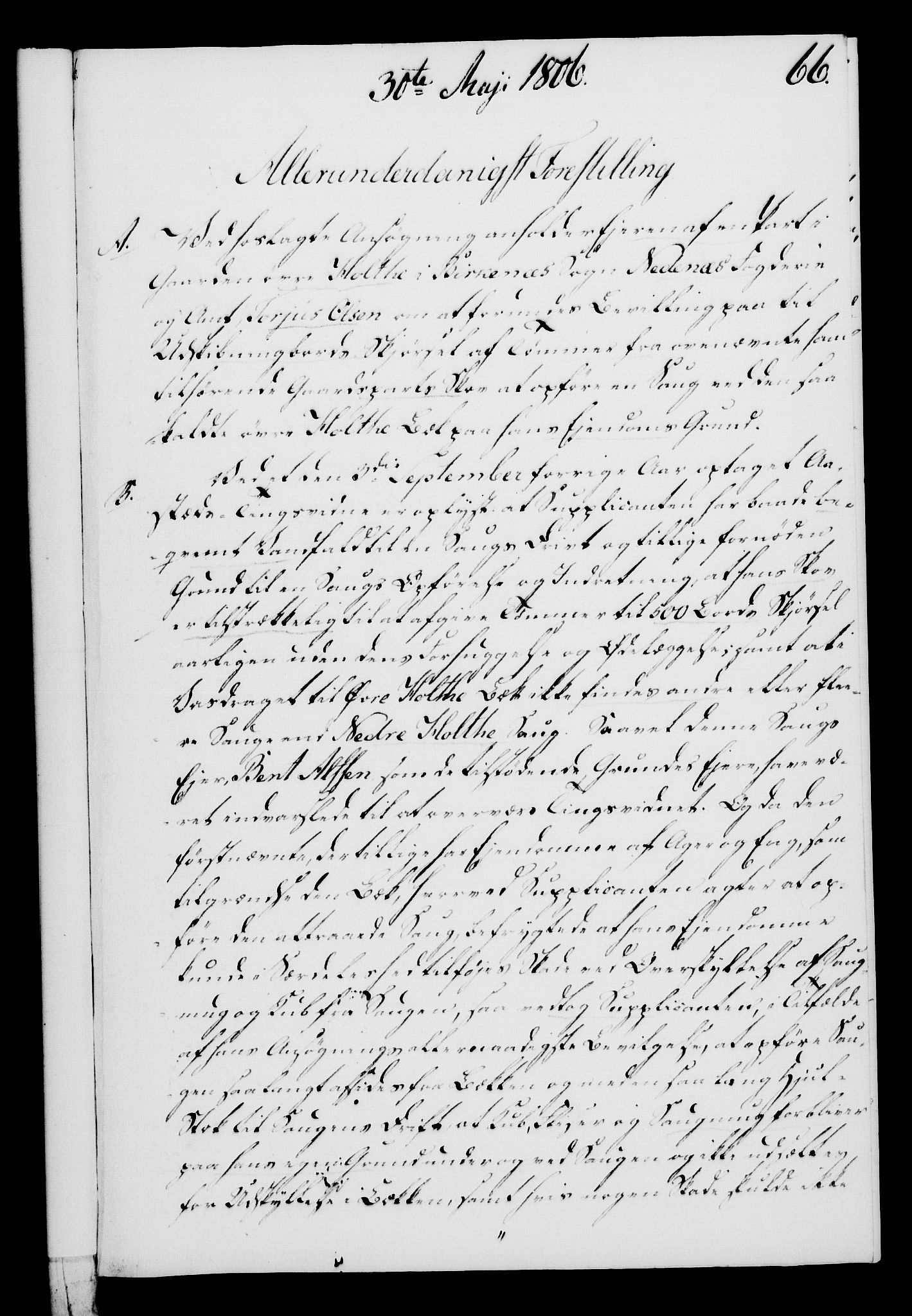 RA, Rentekammeret, Kammerkanselliet, G/Gf/Gfa/L0088: Norsk relasjons- og resolusjonsprotokoll (merket RK 52.88), 1806, s. 396