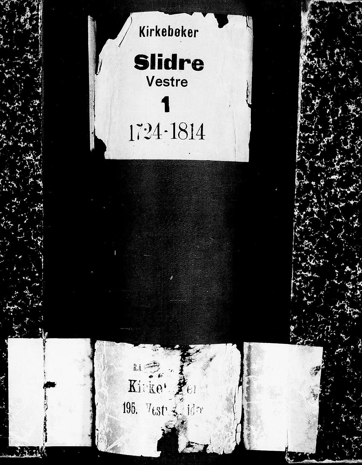 SAH, Slidre prestekontor, Ministerialbok nr. 1, 1724-1814