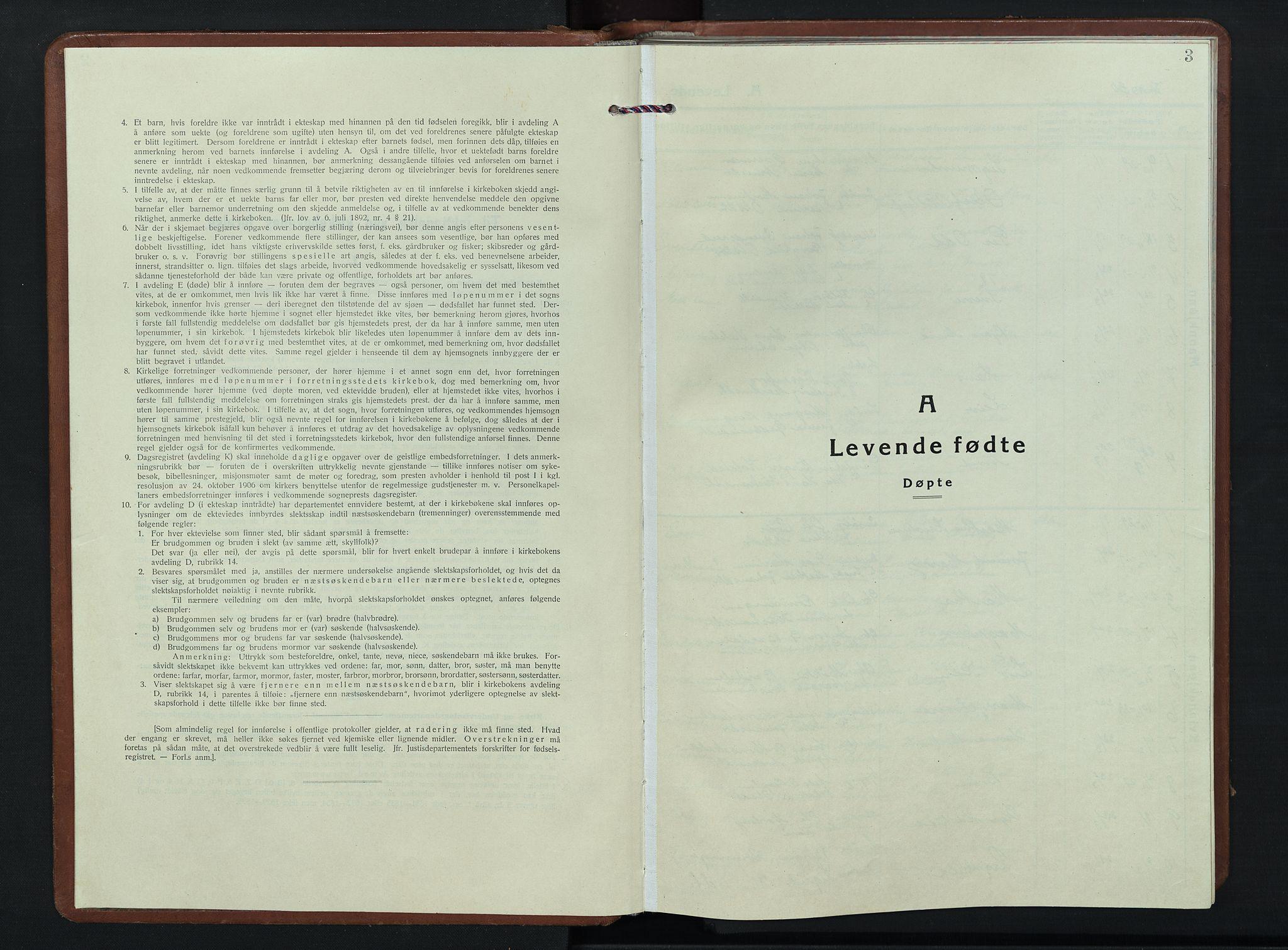 SAH, Nordre Land prestekontor, Klokkerbok nr. 7, 1930-1953, s. 3