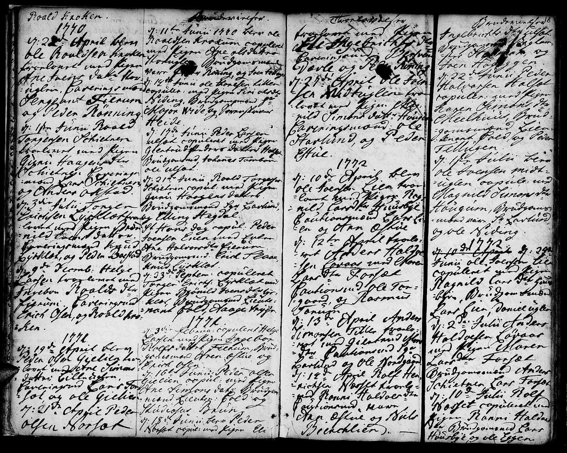 SAT, Ministerialprotokoller, klokkerbøker og fødselsregistre - Sør-Trøndelag, 618/L0437: Ministerialbok nr. 618A02, 1749-1782, s. 18
