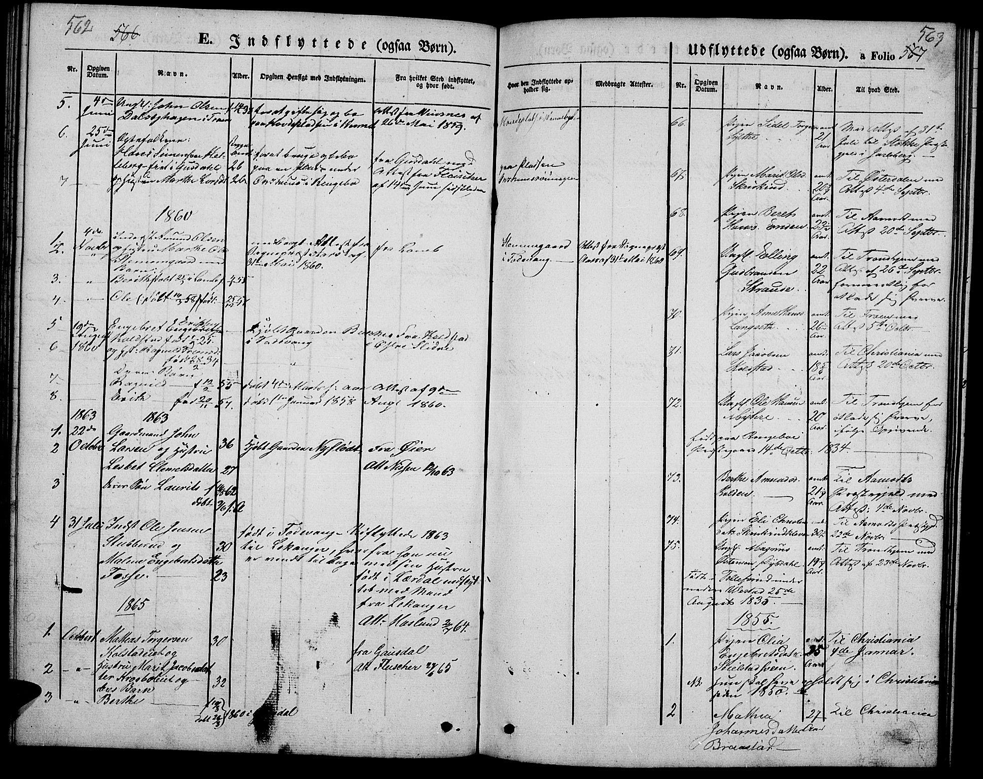 SAH, Ringebu prestekontor, Klokkerbok nr. 3, 1854-1866, s. 562-563