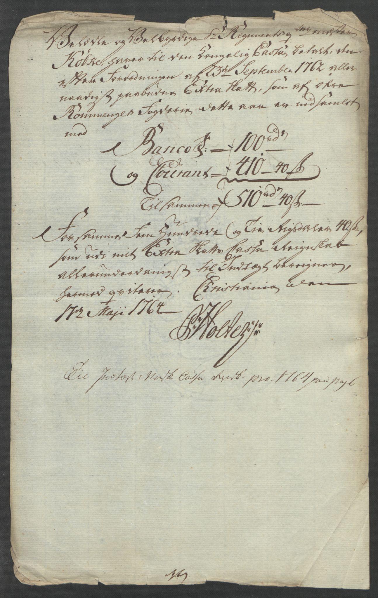 RA, Rentekammeret inntil 1814, Reviderte regnskaper, Fogderegnskap, R12/L0804: Ekstraskatten Øvre Romerike, 1764, s. 282
