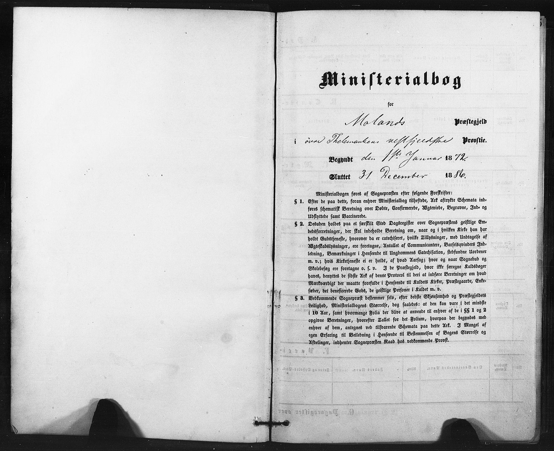 SAKO, Fyresdal kirkebøker, F/Fa/L0006: Ministerialbok nr. I 6, 1872-1886