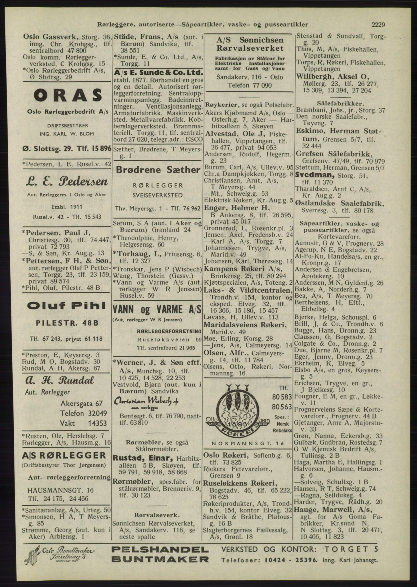 RA, Oslo adressebok (publikasjon)*, 1945, s. 2229