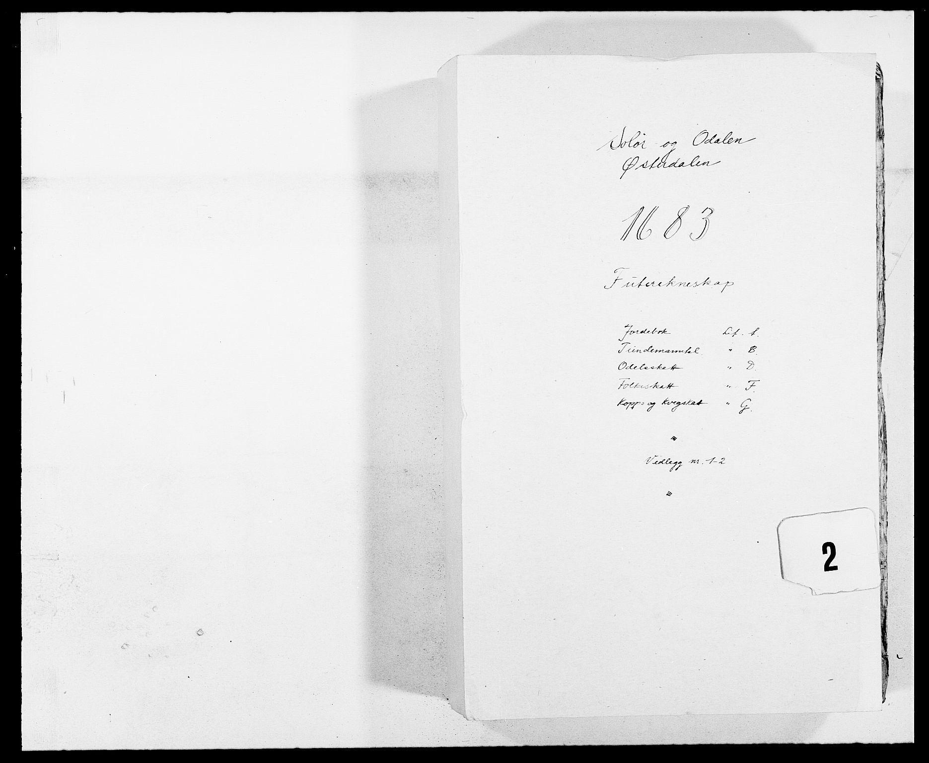 RA, Rentekammeret inntil 1814, Reviderte regnskaper, Fogderegnskap, R13/L0820: Fogderegnskap Solør, Odal og Østerdal, 1683, s. 1