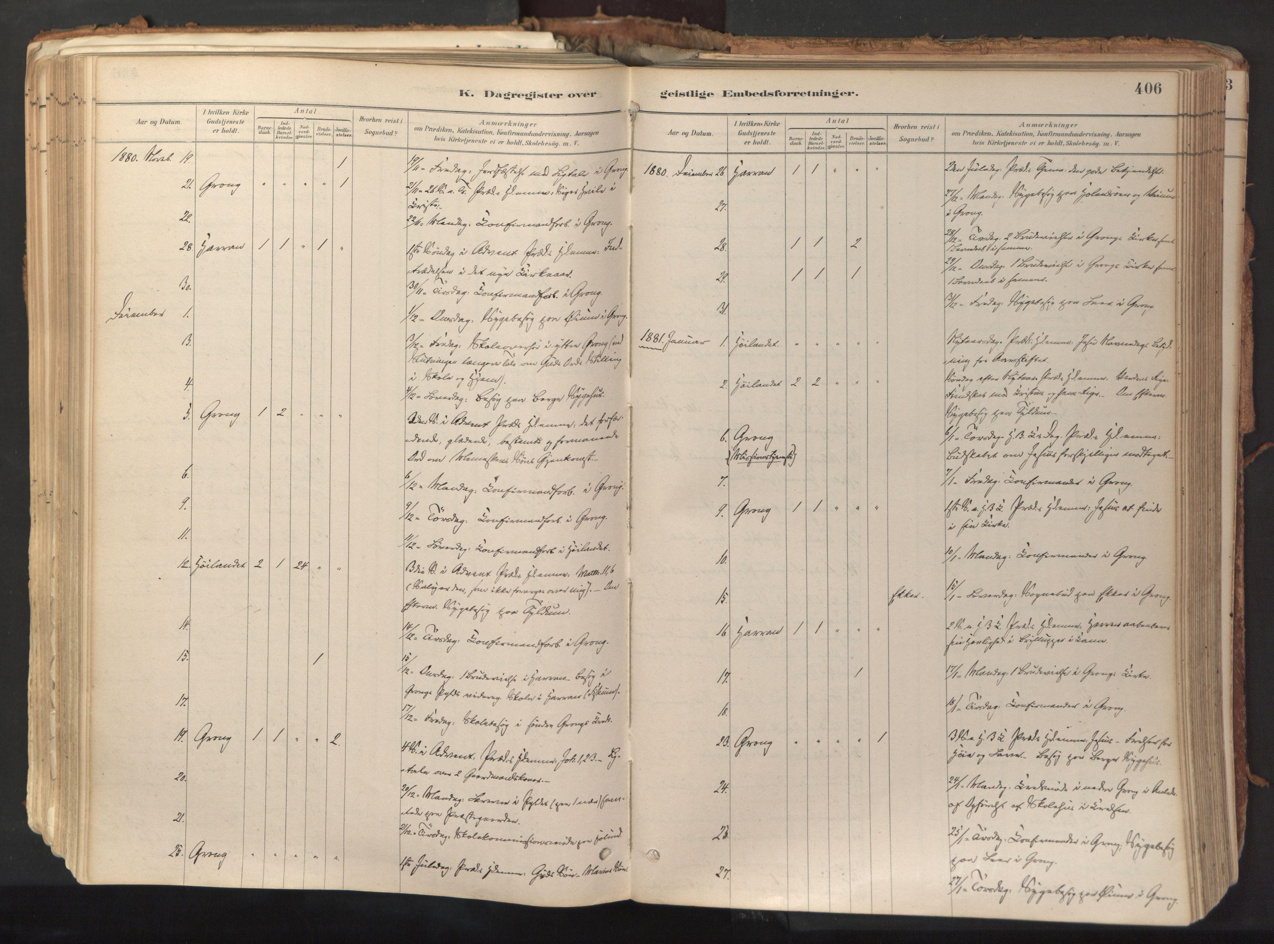 SAT, Ministerialprotokoller, klokkerbøker og fødselsregistre - Nord-Trøndelag, 758/L0519: Ministerialbok nr. 758A04, 1880-1926, s. 406