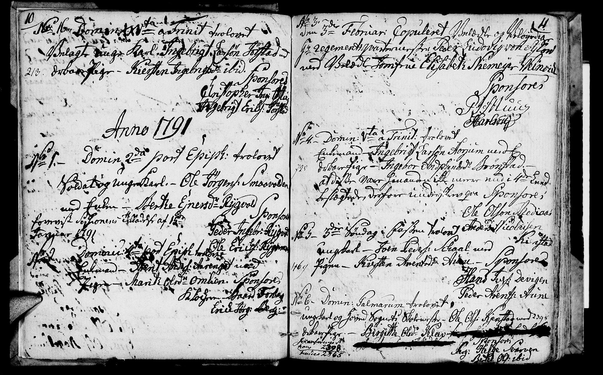 SAT, Ministerialprotokoller, klokkerbøker og fødselsregistre - Nord-Trøndelag, 749/L0468: Ministerialbok nr. 749A02, 1787-1817, s. 10-11