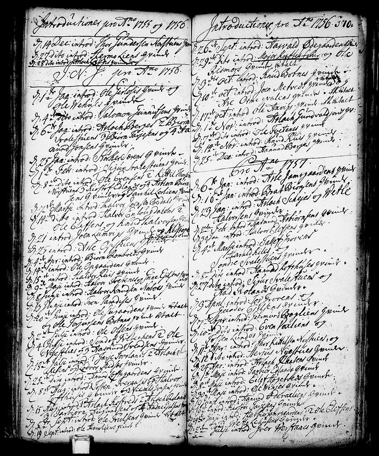 SAKO, Vinje kirkebøker, F/Fa/L0001: Ministerialbok nr. I 1, 1717-1766, s. 170