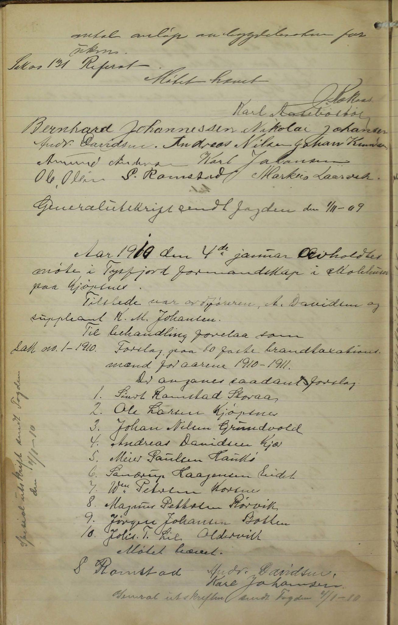 AIN, Tysfjord kommune. Formannskapet, 100/L0002: Forhandlingsprotokoll for Tysfjordens formandskap, 1895-1912, s. 218b