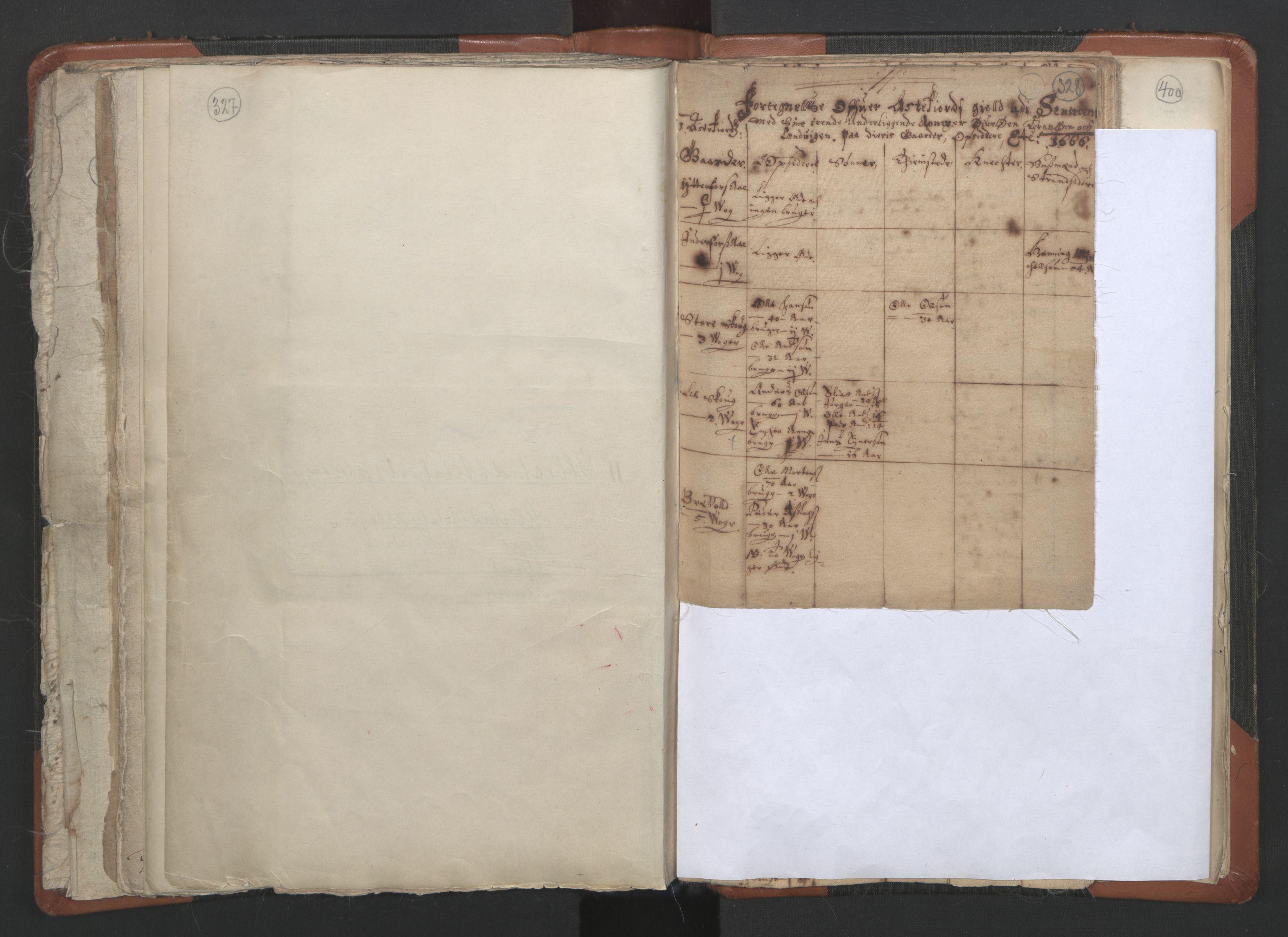 RA, Sogneprestenes manntall 1664-1666, nr. 36: Lofoten og Vesterålen prosti, Senja prosti og Troms prosti, 1664-1666, s. 327-328