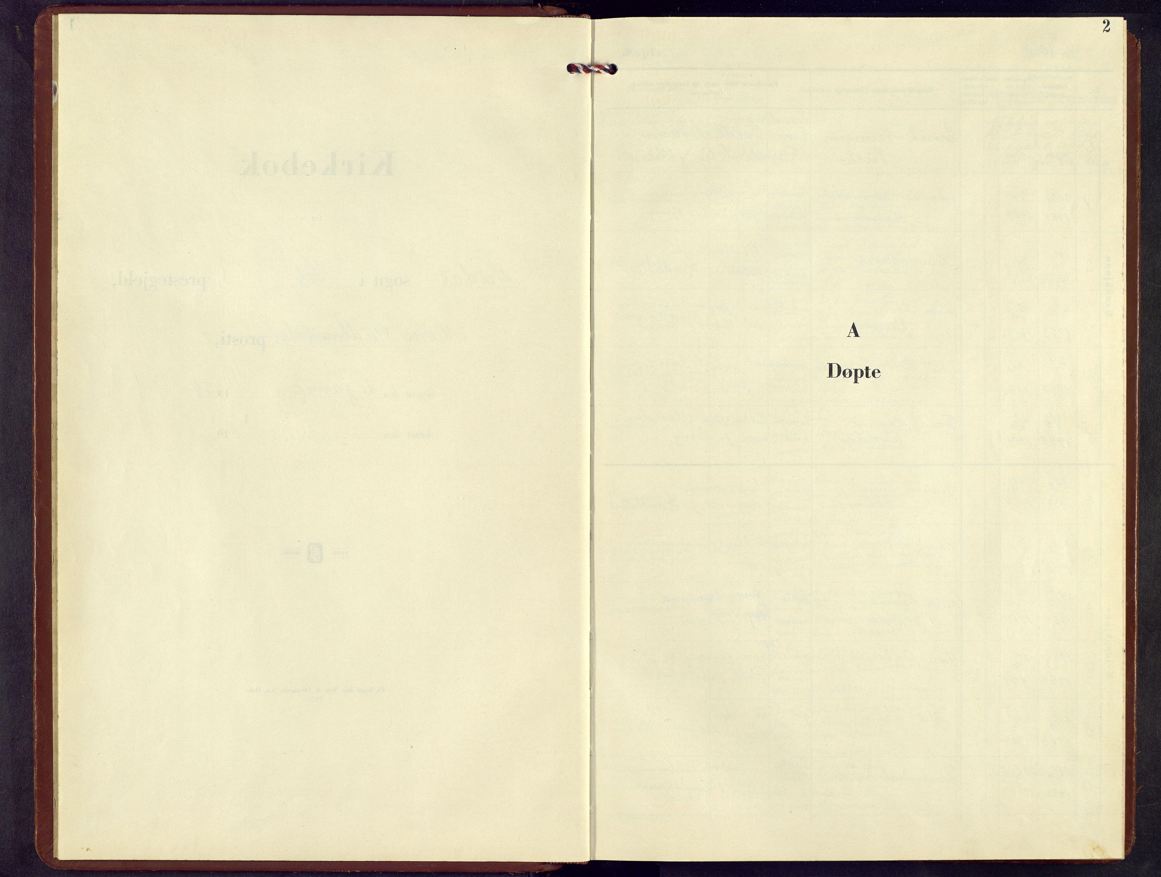 SAH, Sel prestekontor, Klokkerbok nr. 7, 1953-1973, s. 2