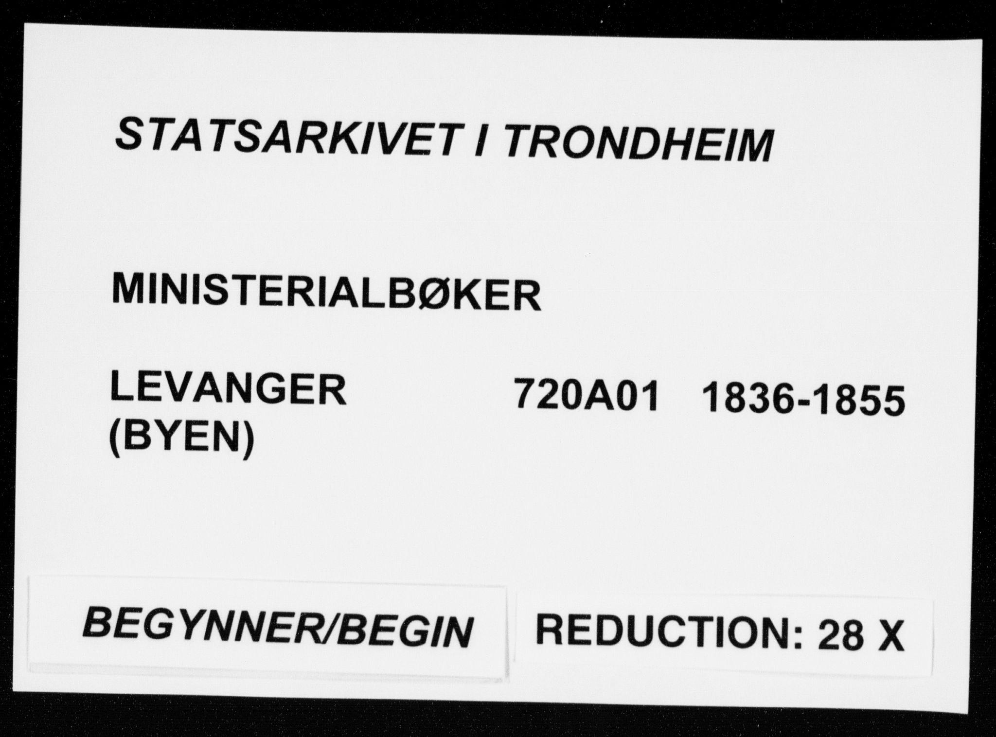 SAT, Ministerialprotokoller, klokkerbøker og fødselsregistre - Nord-Trøndelag, 720/L0183: Ministerialbok nr. 720A01, 1836-1855