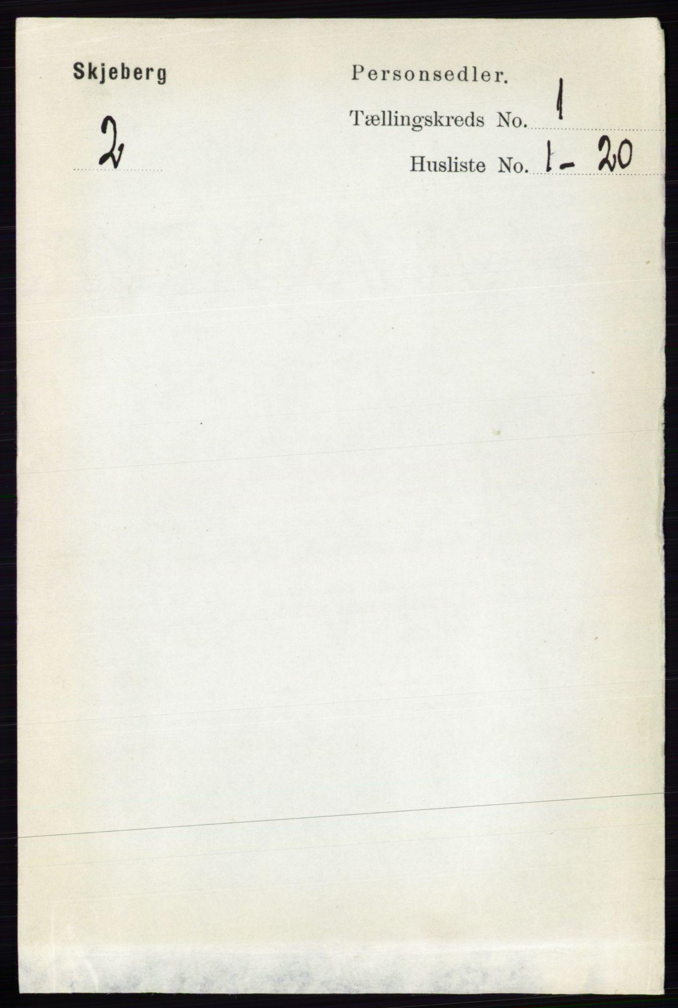 RA, Folketelling 1891 for 0115 Skjeberg herred, 1891, s. 88