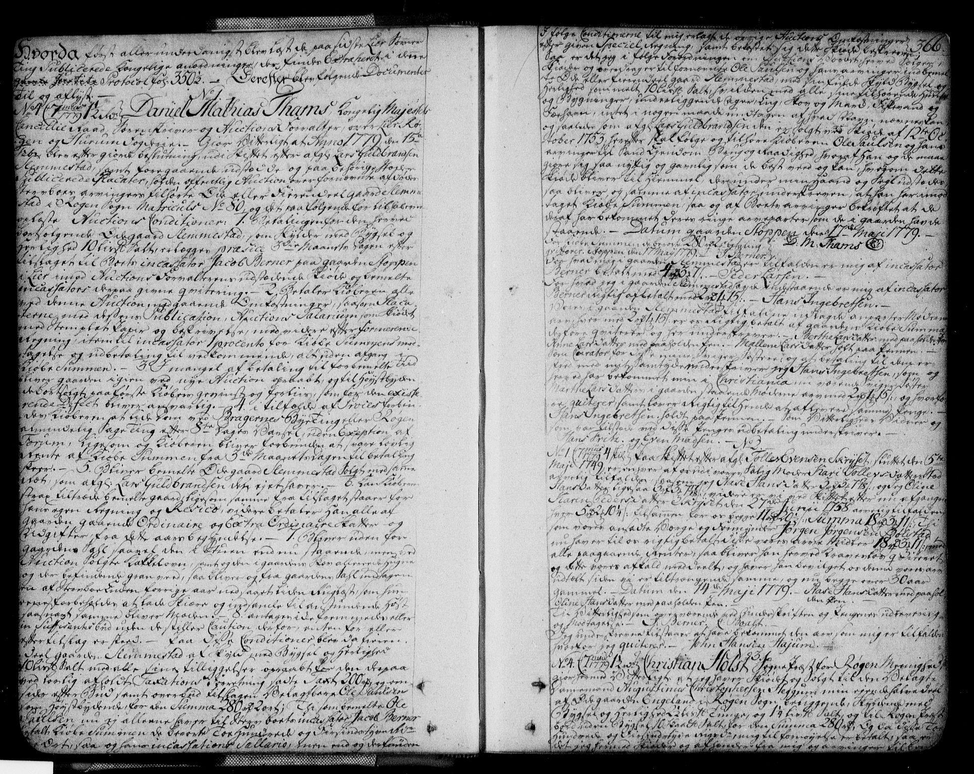 SAKO, Lier, Røyken og Hurum sorenskriveri, G/Ga/Gaa/L0004b: Pantebok nr. IVb, 1779-1788, s. 366