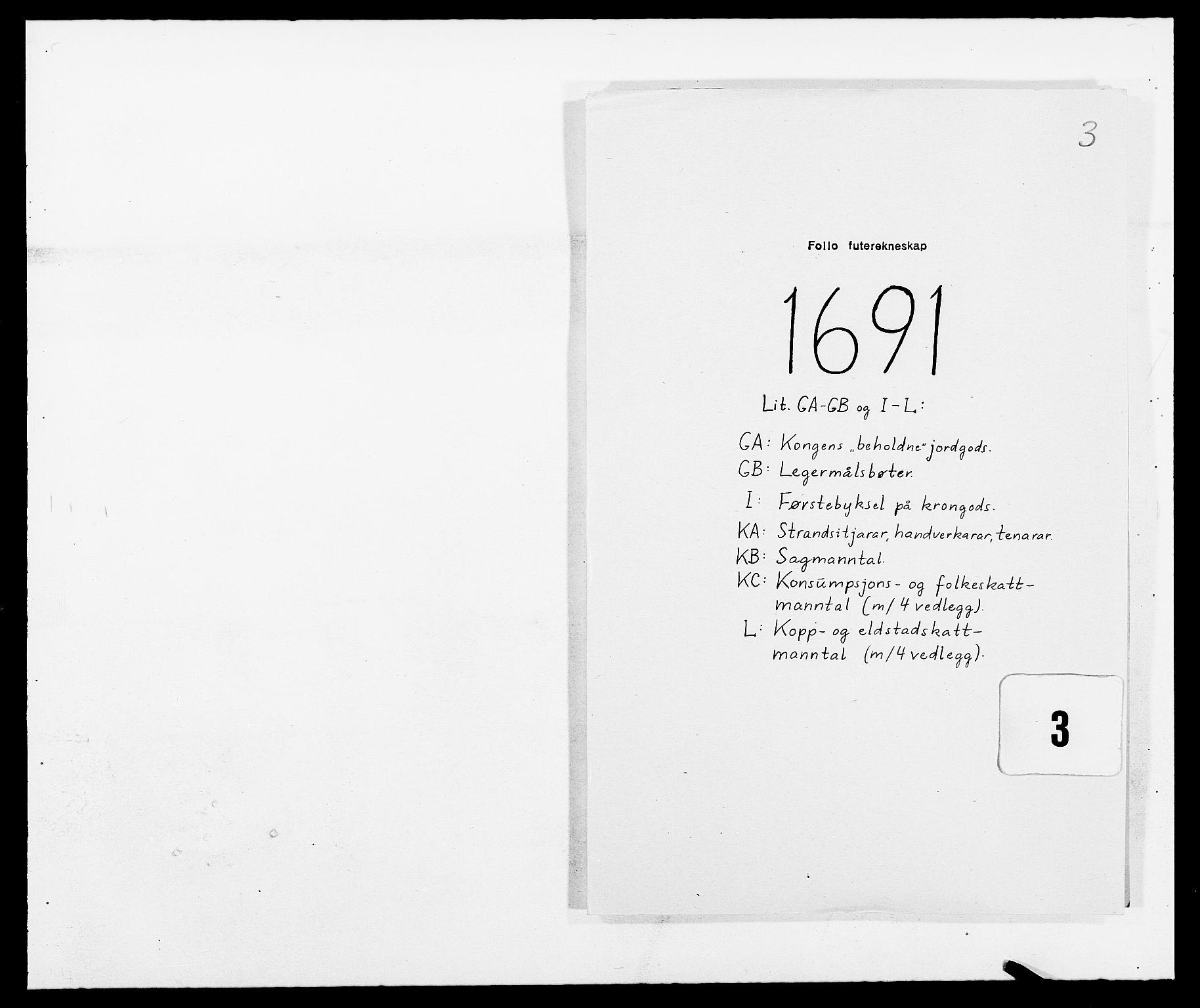 RA, Rentekammeret inntil 1814, Reviderte regnskaper, Fogderegnskap, R09/L0435: Fogderegnskap Follo, 1689-1691, s. 404