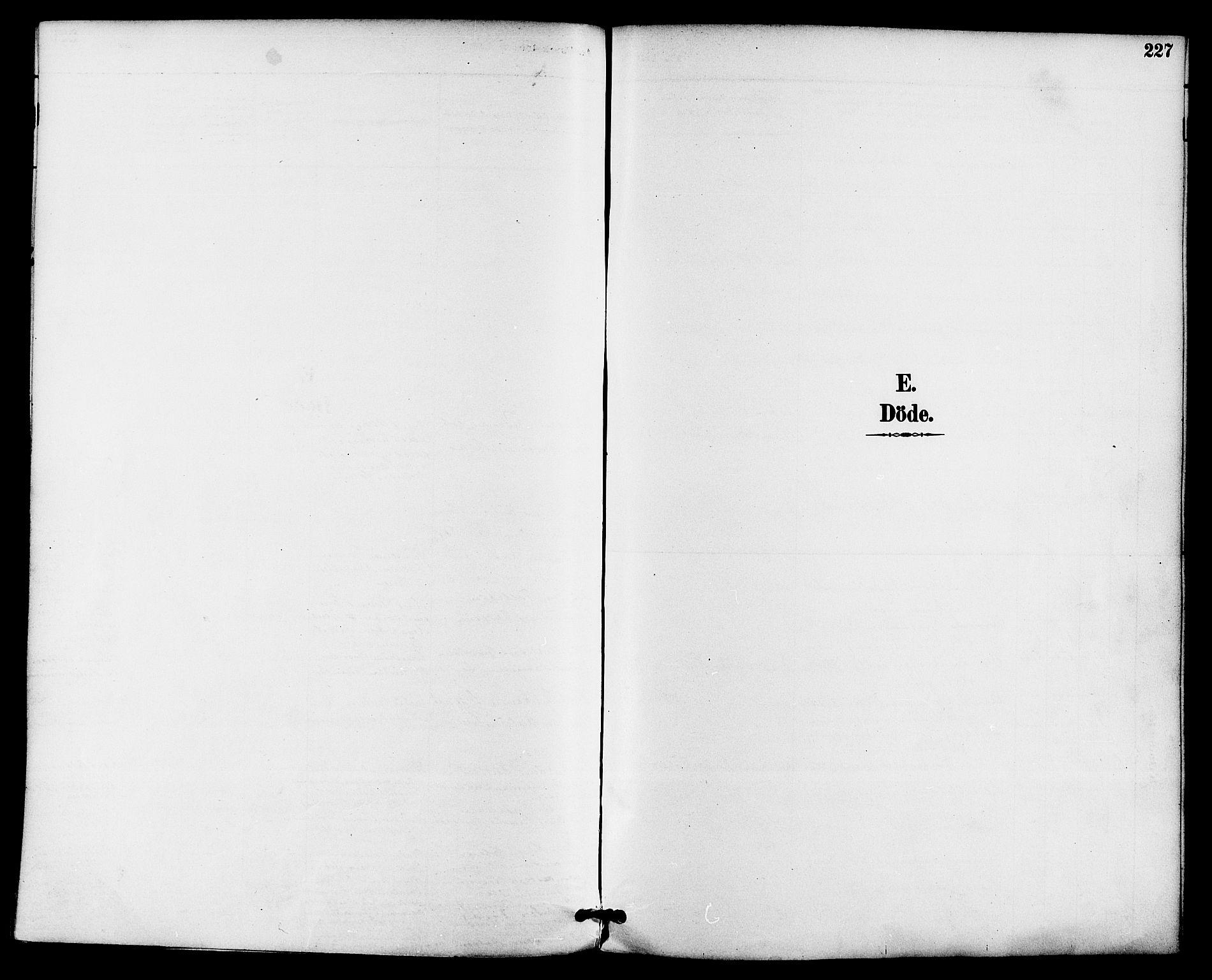 SAKO, Gjerpen kirkebøker, F/Fa/L0010: Ministerialbok nr. 10, 1886-1895, s. 227