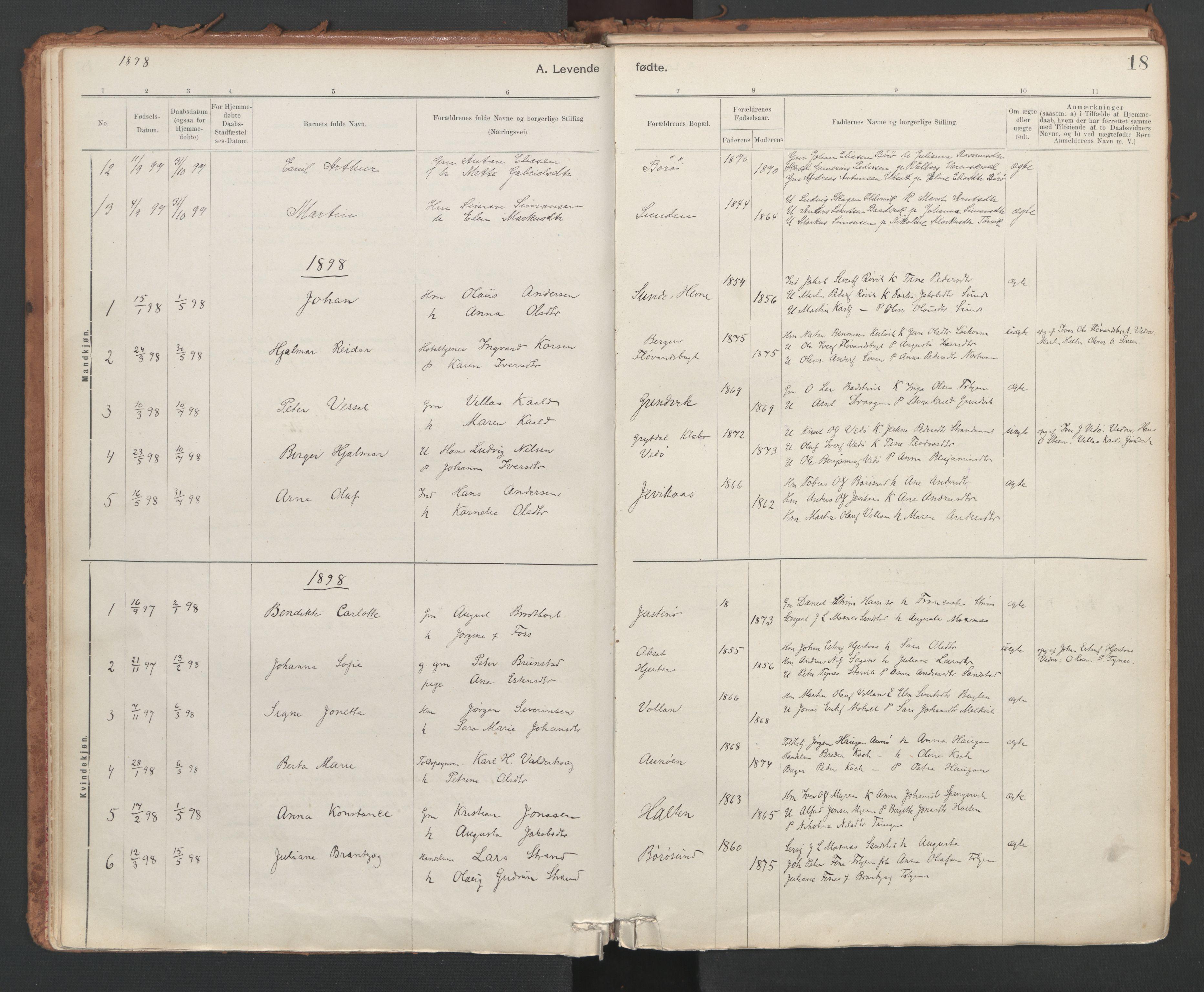 SAT, Ministerialprotokoller, klokkerbøker og fødselsregistre - Sør-Trøndelag, 639/L0572: Ministerialbok nr. 639A01, 1890-1920, s. 18