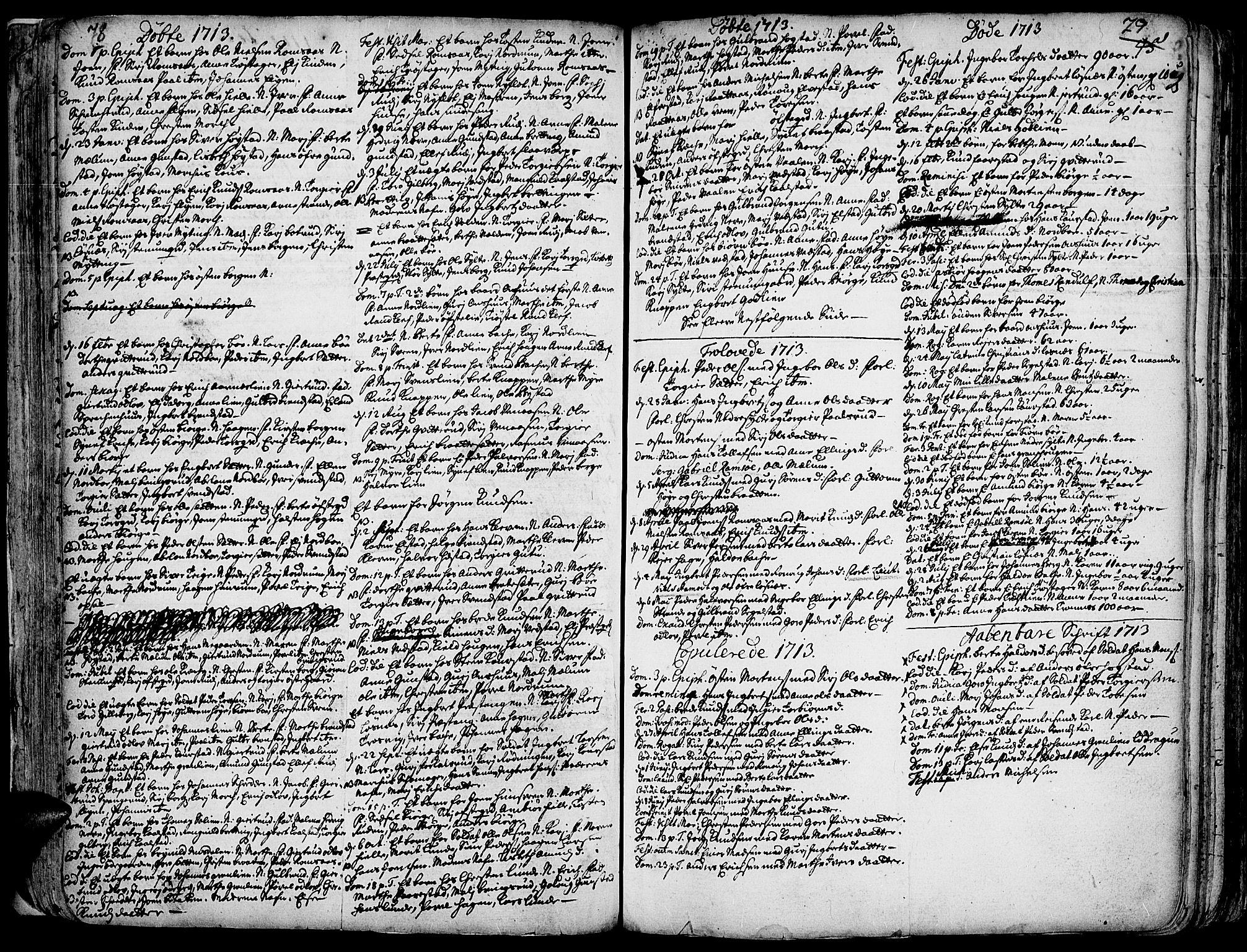 SAH, Ringebu prestekontor, Ministerialbok nr. 1, 1696-1733, s. 78-79