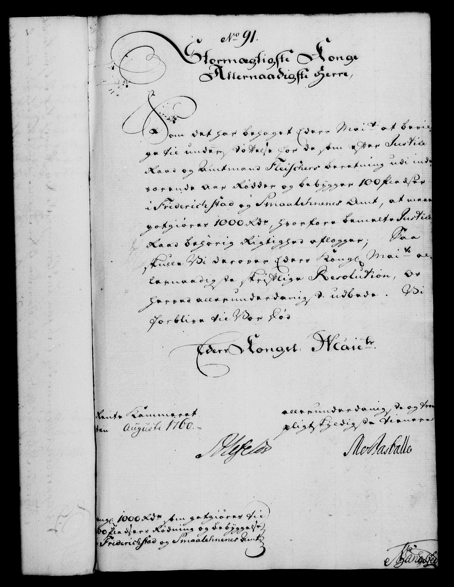 RA, Rentekammeret, Kammerkanselliet, G/Gf/Gfa/L0042: Norsk relasjons- og resolusjonsprotokoll (merket RK 52.42), 1760, s. 327