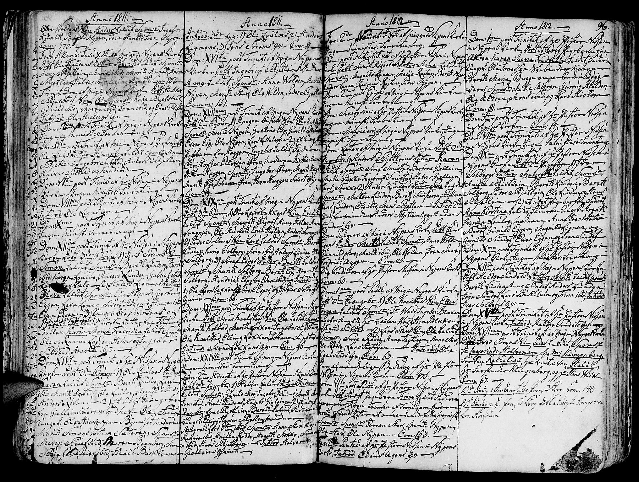 SAT, Ministerialprotokoller, klokkerbøker og fødselsregistre - Sør-Trøndelag, 691/L1063: Ministerialbok nr. 691A02 /3, 1768-1815, s. 96