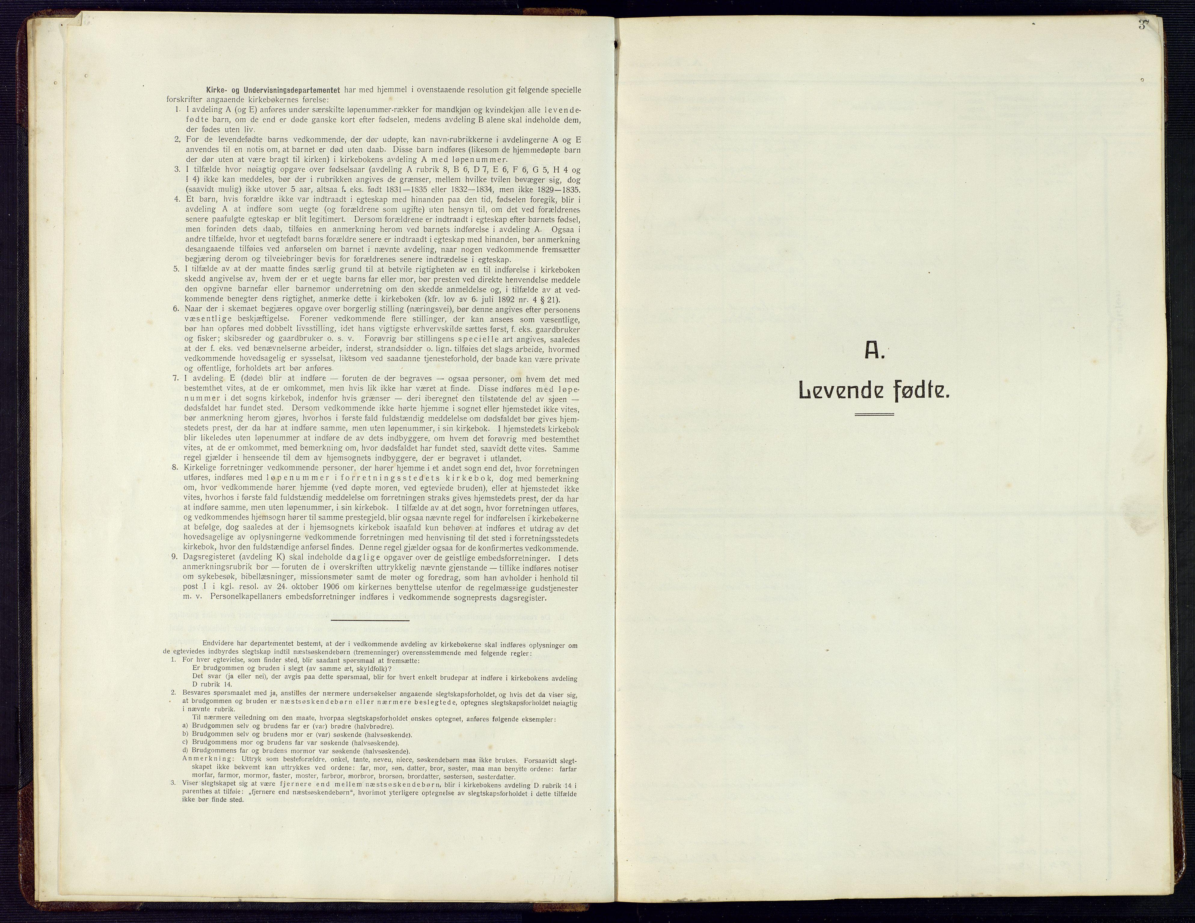 SAK, Herad sokneprestkontor, F/Fb/Fba/L0006: Klokkerbok nr. B 6, 1921-1959, s. 3