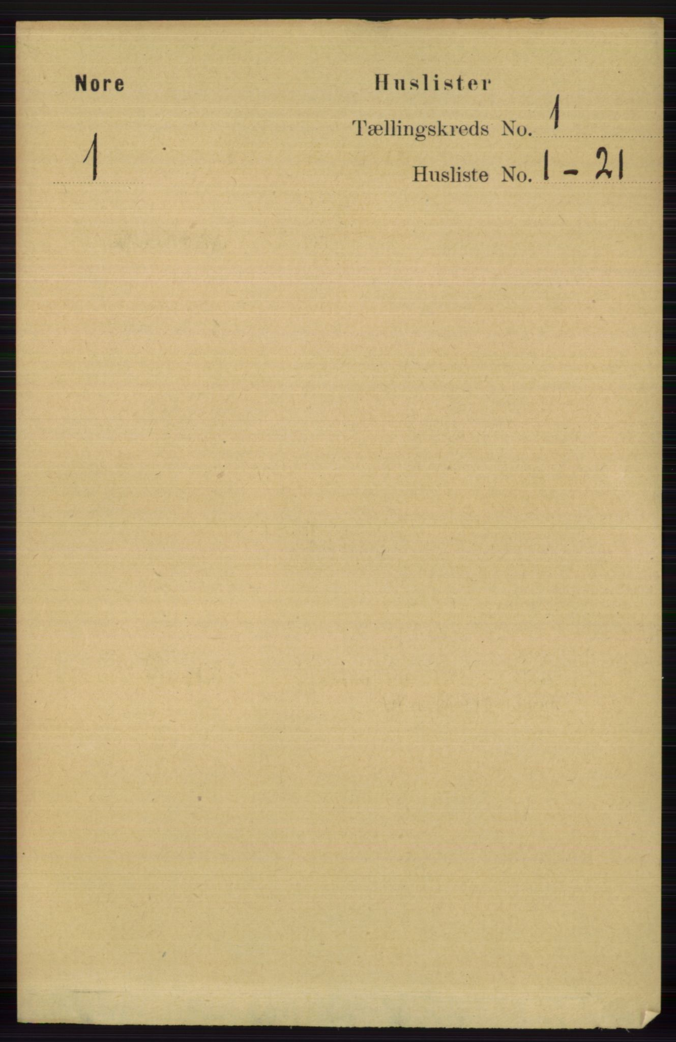 RA, Folketelling 1891 for 0633 Nore herred, 1891, s. 32