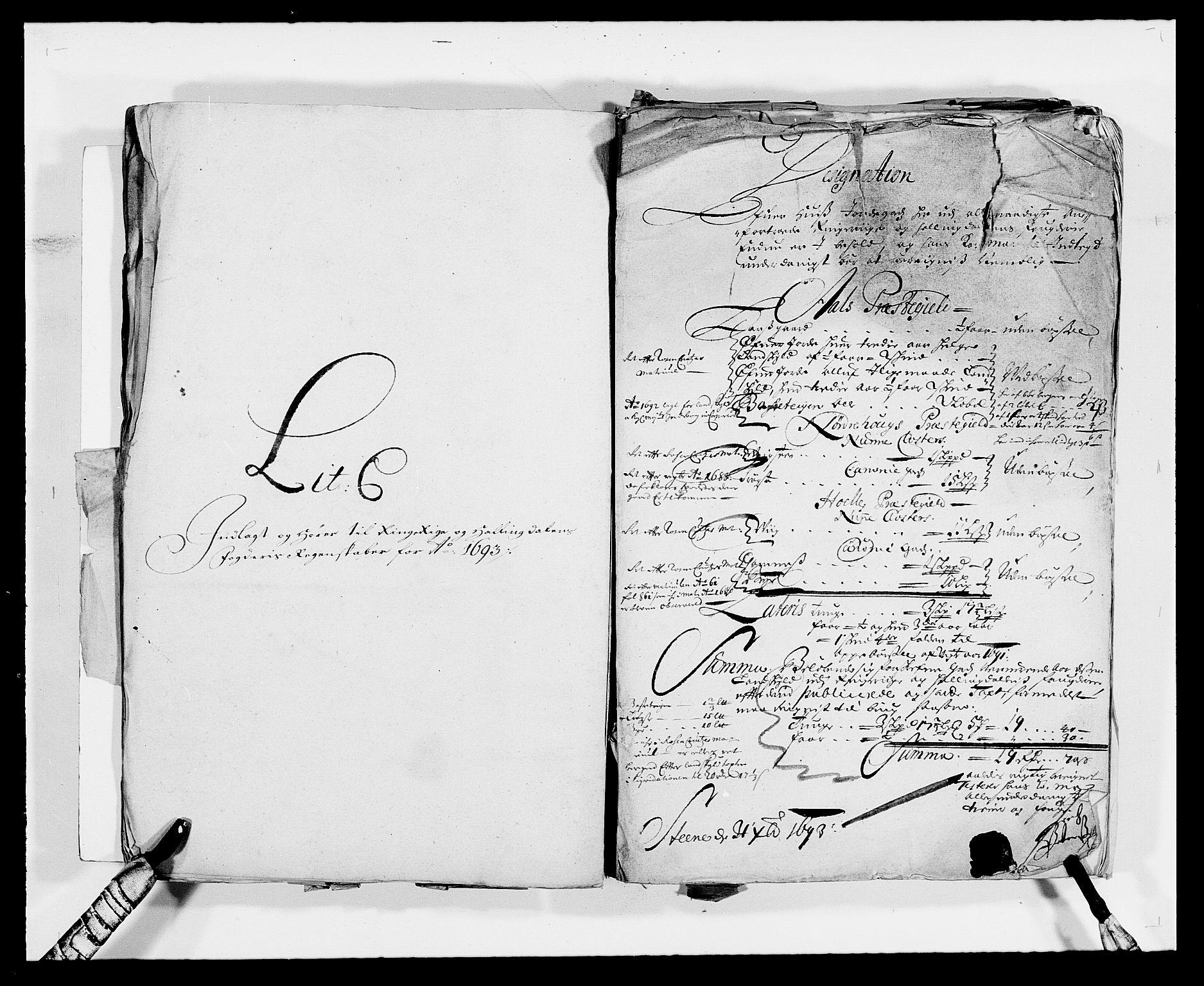 RA, Rentekammeret inntil 1814, Reviderte regnskaper, Fogderegnskap, R21/L1450: Fogderegnskap Ringerike og Hallingdal, 1693, s. 11