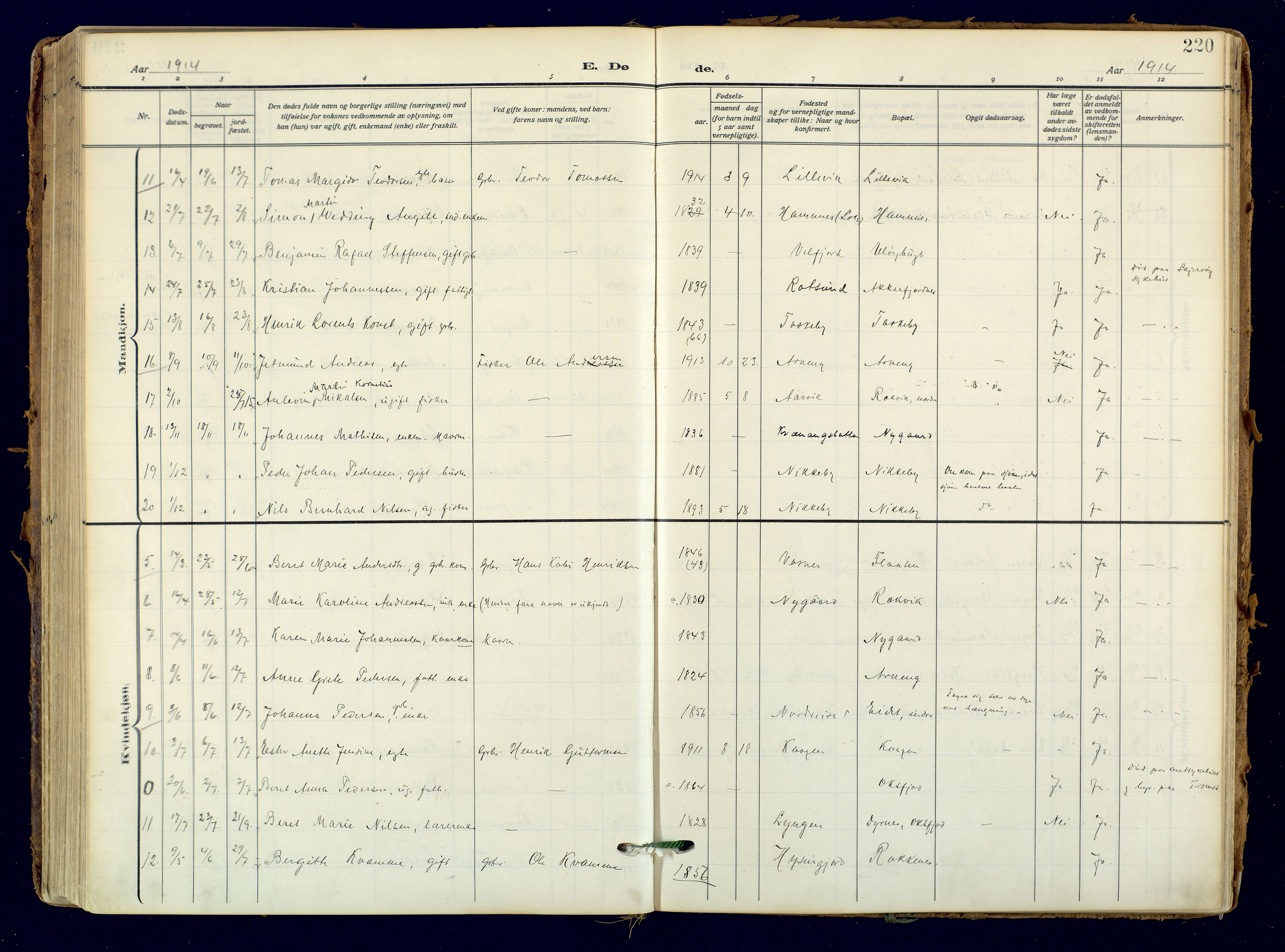 SATØ, Skjervøy sokneprestkontor, H/Ha/Haa: Ministerialbok nr. 18, 1910-1926, s. 220
