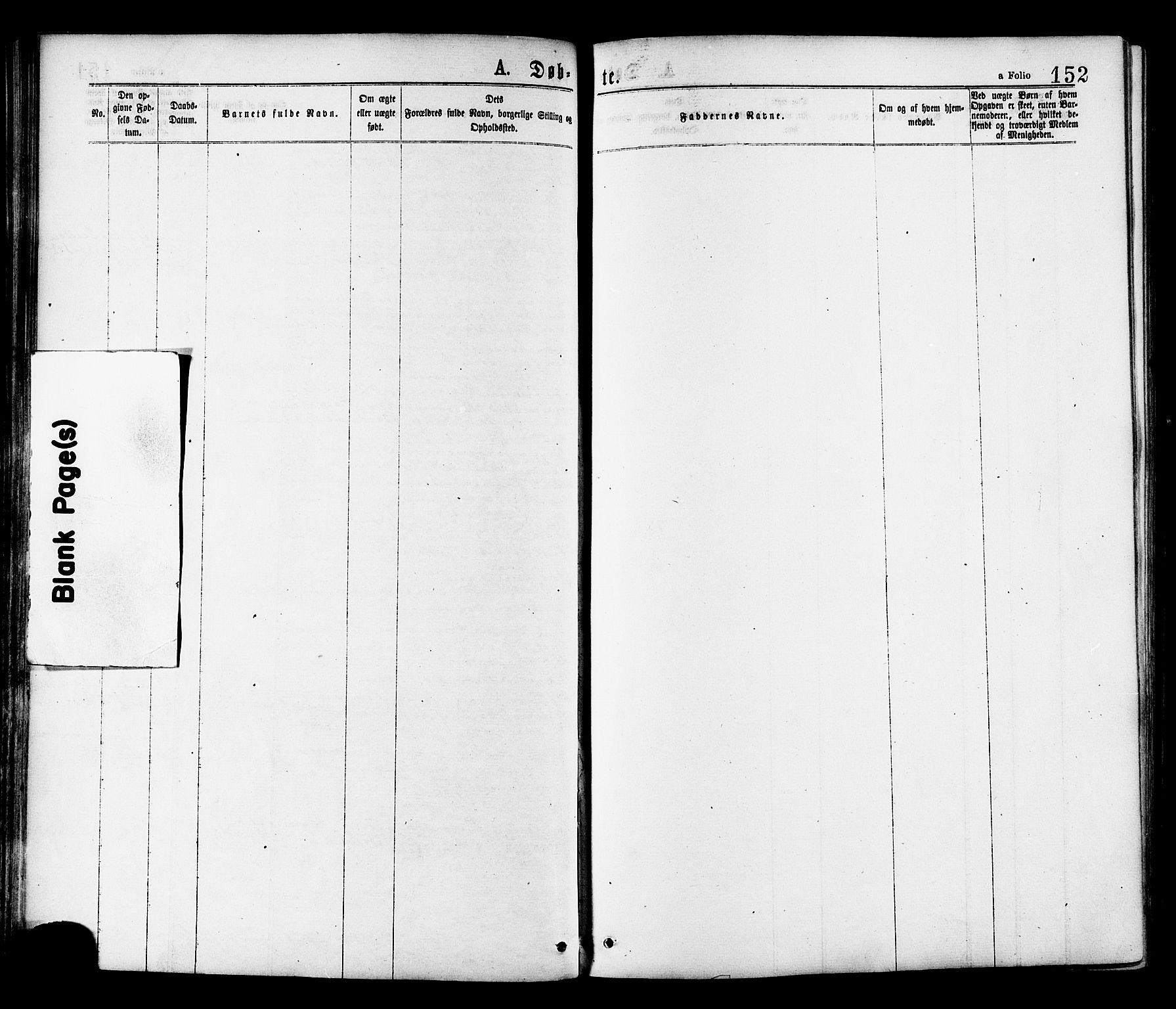 SAT, Ministerialprotokoller, klokkerbøker og fødselsregistre - Sør-Trøndelag, 646/L0613: Ministerialbok nr. 646A11, 1870-1884, s. 152
