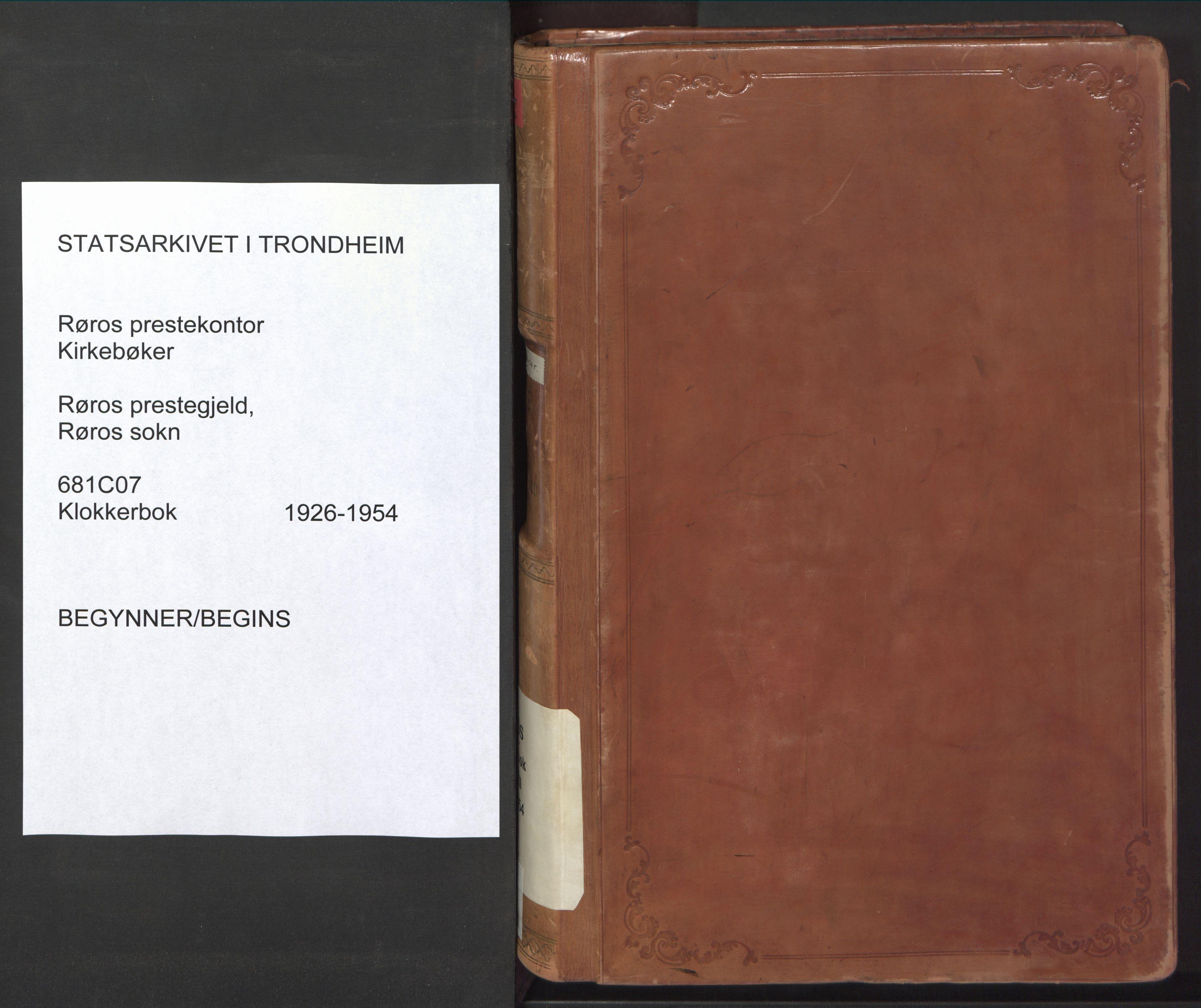 SAT, Ministerialprotokoller, klokkerbøker og fødselsregistre - Sør-Trøndelag, 681/L0943: Klokkerbok nr. 681C07, 1926-1954