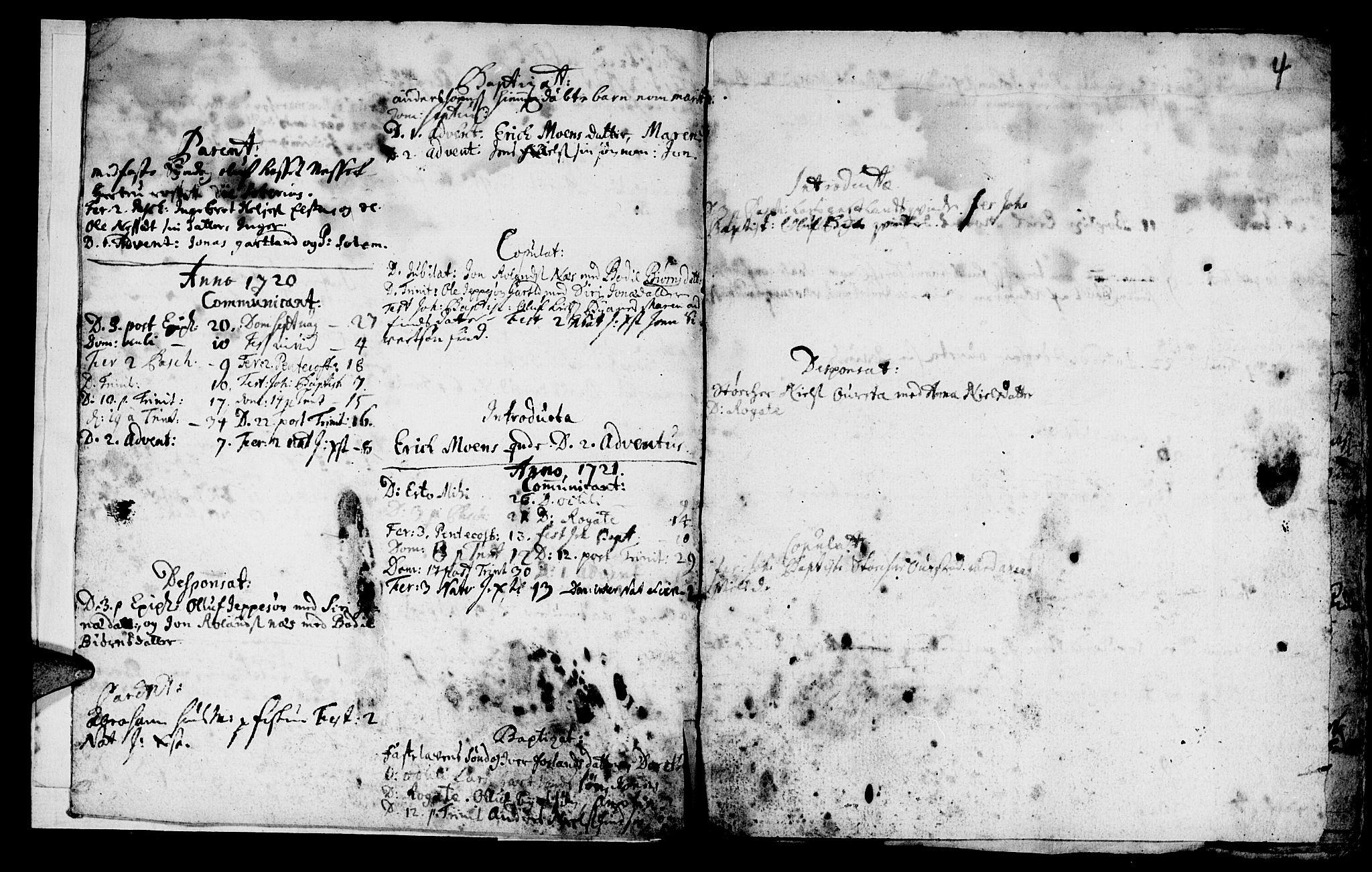 SAT, Ministerialprotokoller, klokkerbøker og fødselsregistre - Nord-Trøndelag, 759/L0525: Ministerialbok nr. 759A01, 1706-1748, s. 4