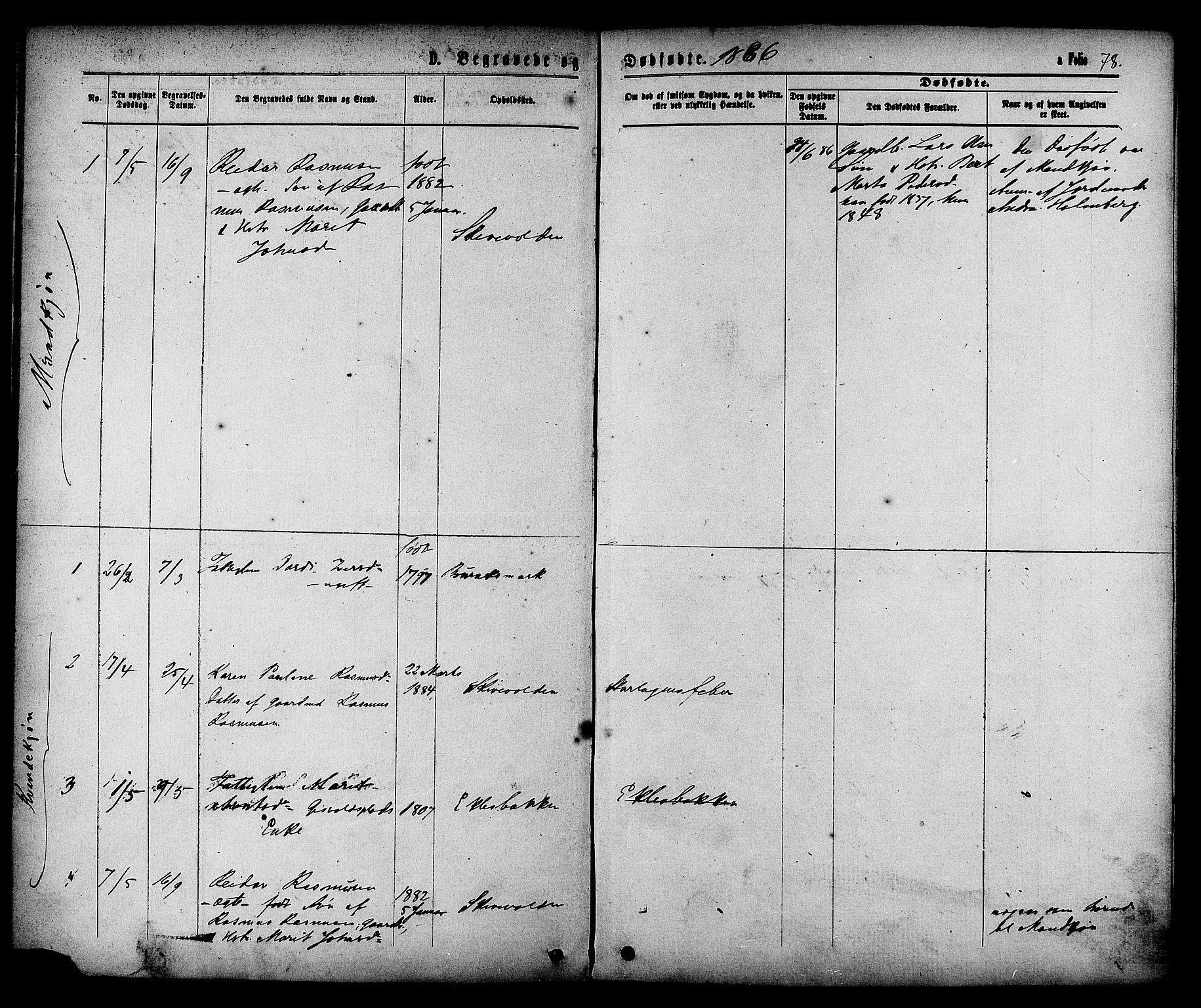 SAT, Ministerialprotokoller, klokkerbøker og fødselsregistre - Sør-Trøndelag, 608/L0334: Ministerialbok nr. 608A03, 1877-1886, s. 78