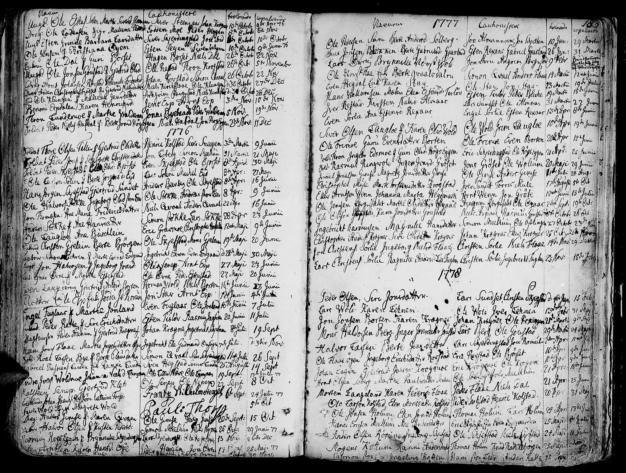 SAT, Ministerialprotokoller, klokkerbøker og fødselsregistre - Sør-Trøndelag, 691/L1061: Ministerialbok nr. 691A02 /1, 1768-1815, s. 183
