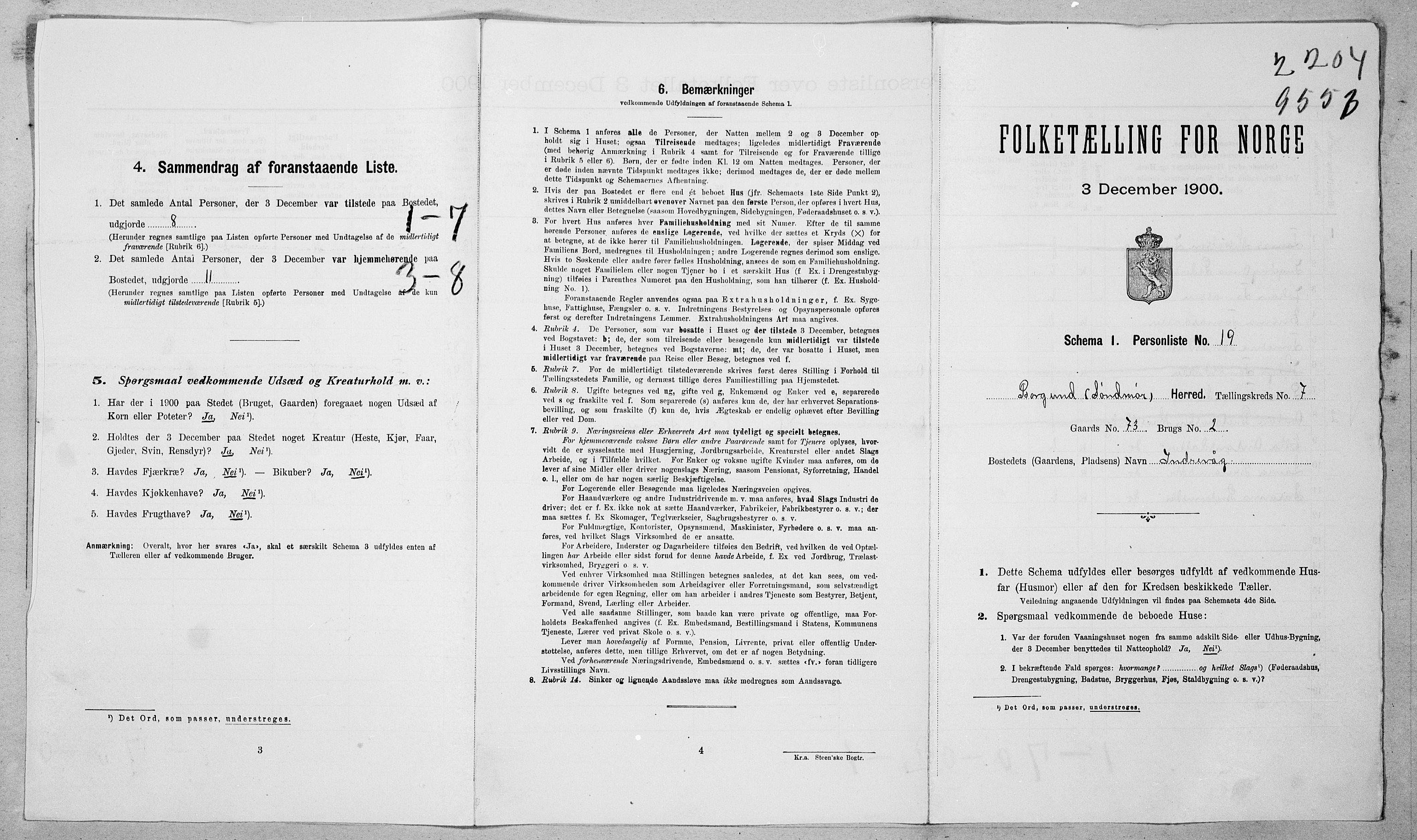 SAT, Folketelling 1900 for 1531 Borgund herred, 1900, s. 76