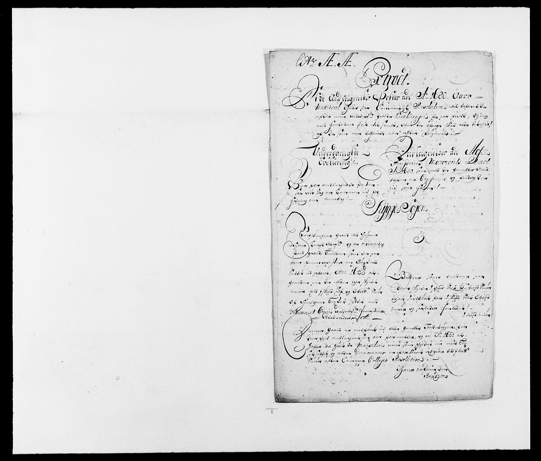 RA, Rentekammeret inntil 1814, Reviderte regnskaper, Fogderegnskap, R02/L0101: Fogderegnskap Moss og Verne kloster, 1680, s. 250
