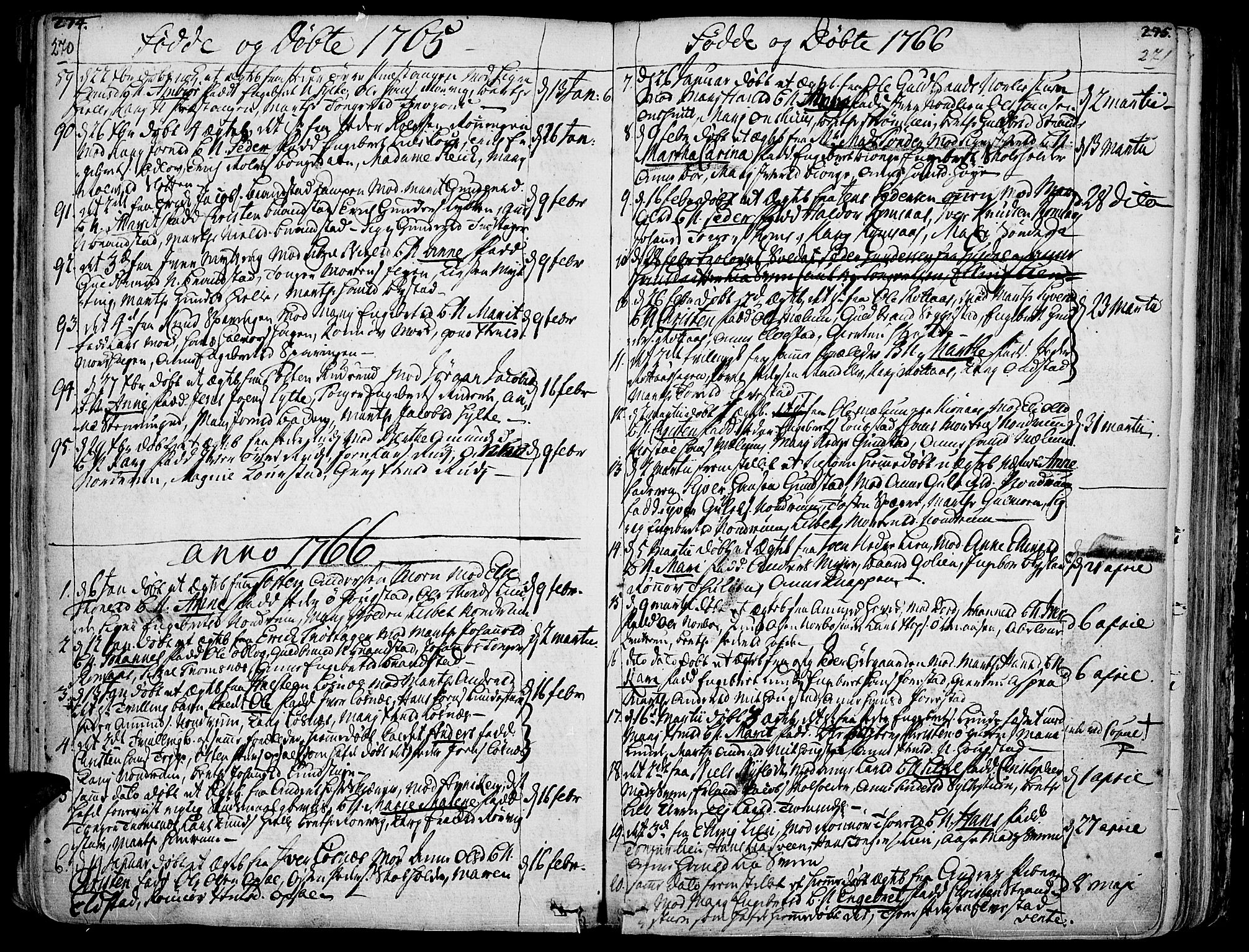 SAH, Ringebu prestekontor, Ministerialbok nr. 2, 1734-1780, s. 270-271